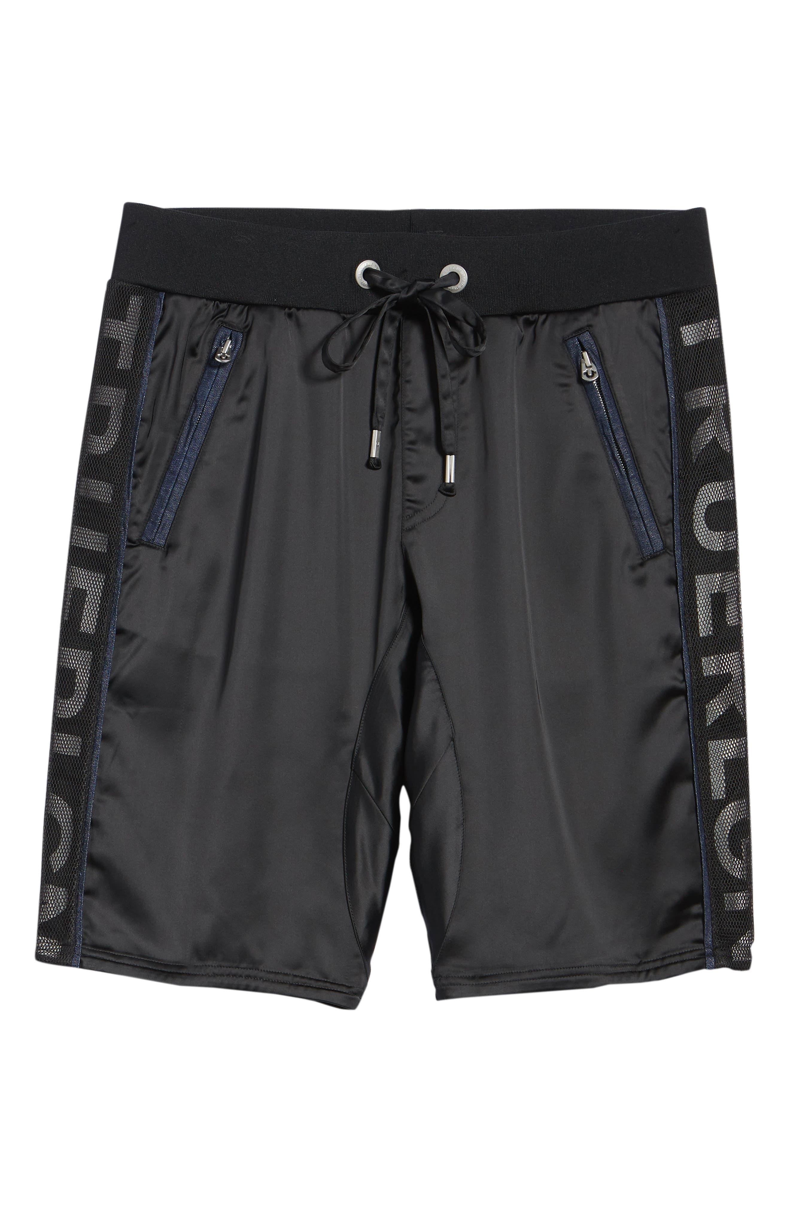 Satin Shorts,                             Alternate thumbnail 6, color,                             Black