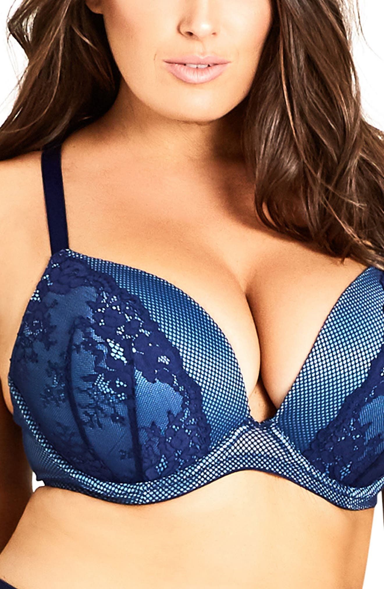 City Chic Melanie Underwire Push-Up Bra (Plus Size)