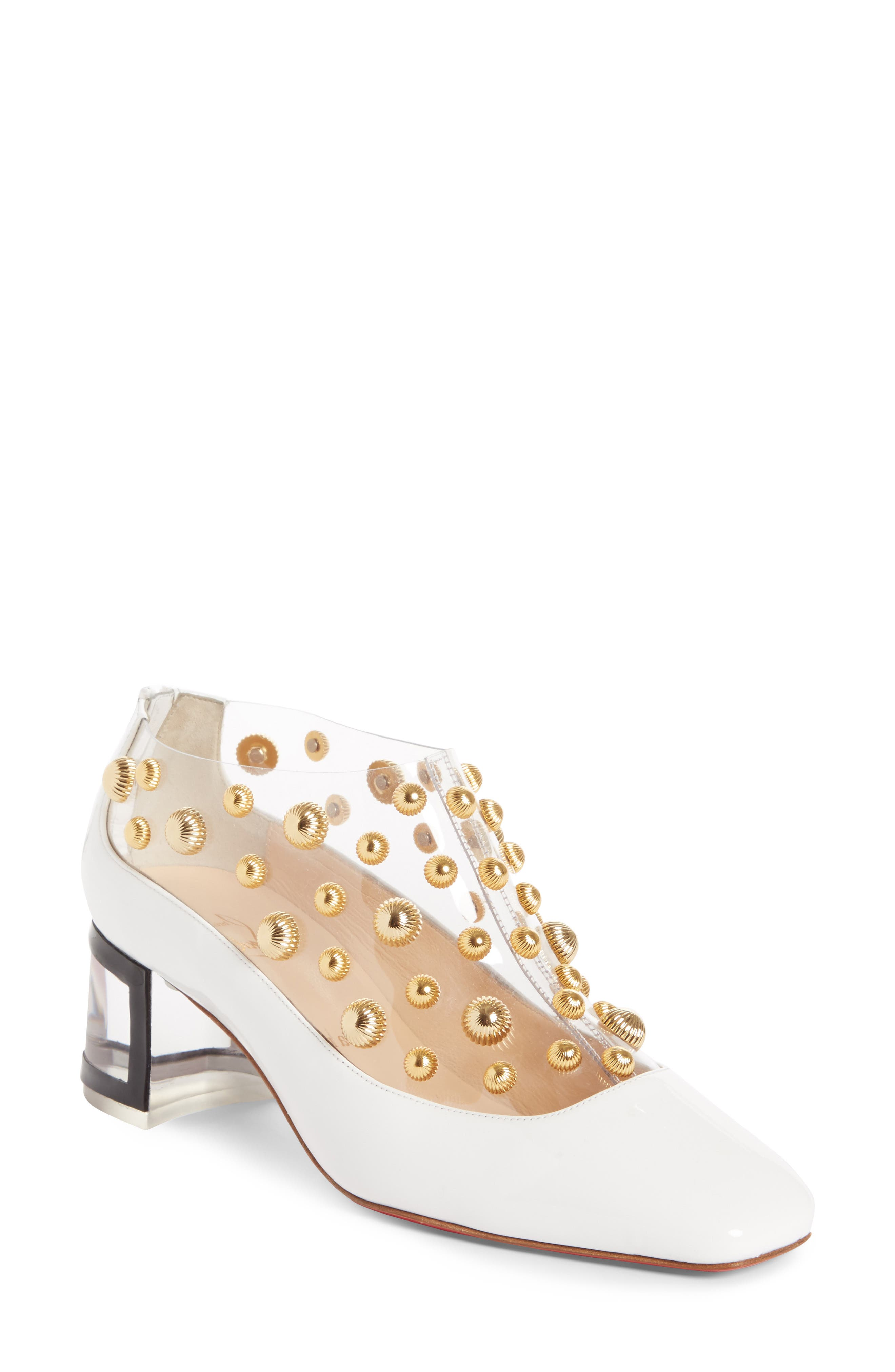 Alternate Image 1 Selected - Christian Louboutin Studded Clear Pump (Women)