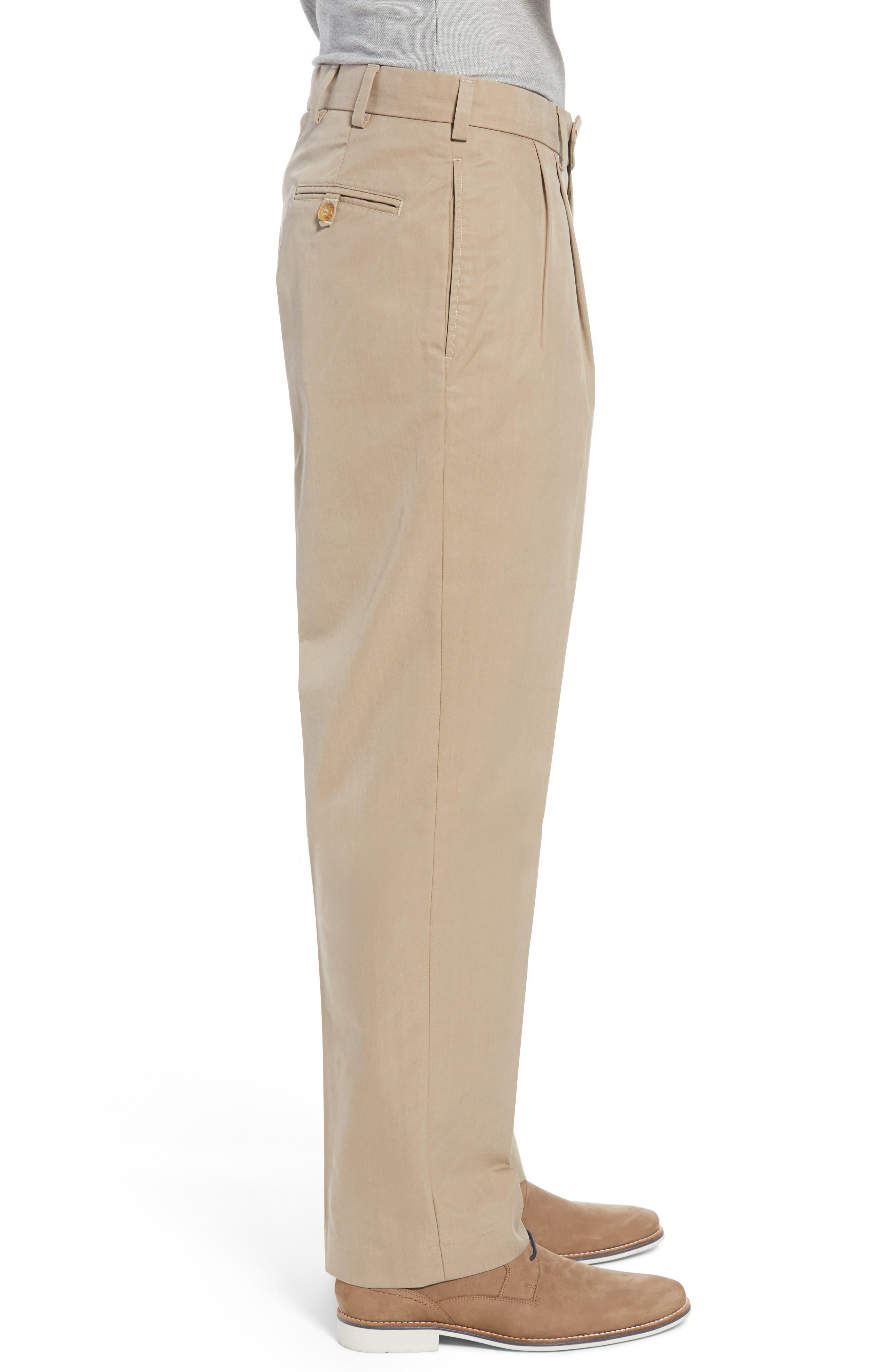 M2 Classic Fit Pleated Travel Twill Pants,                             Alternate thumbnail 3, color,                             Khaki