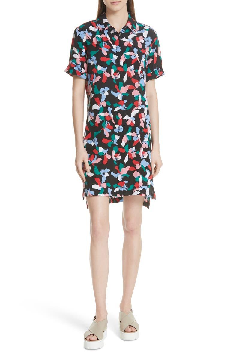 Mirelle Floral Silk Shirtdress