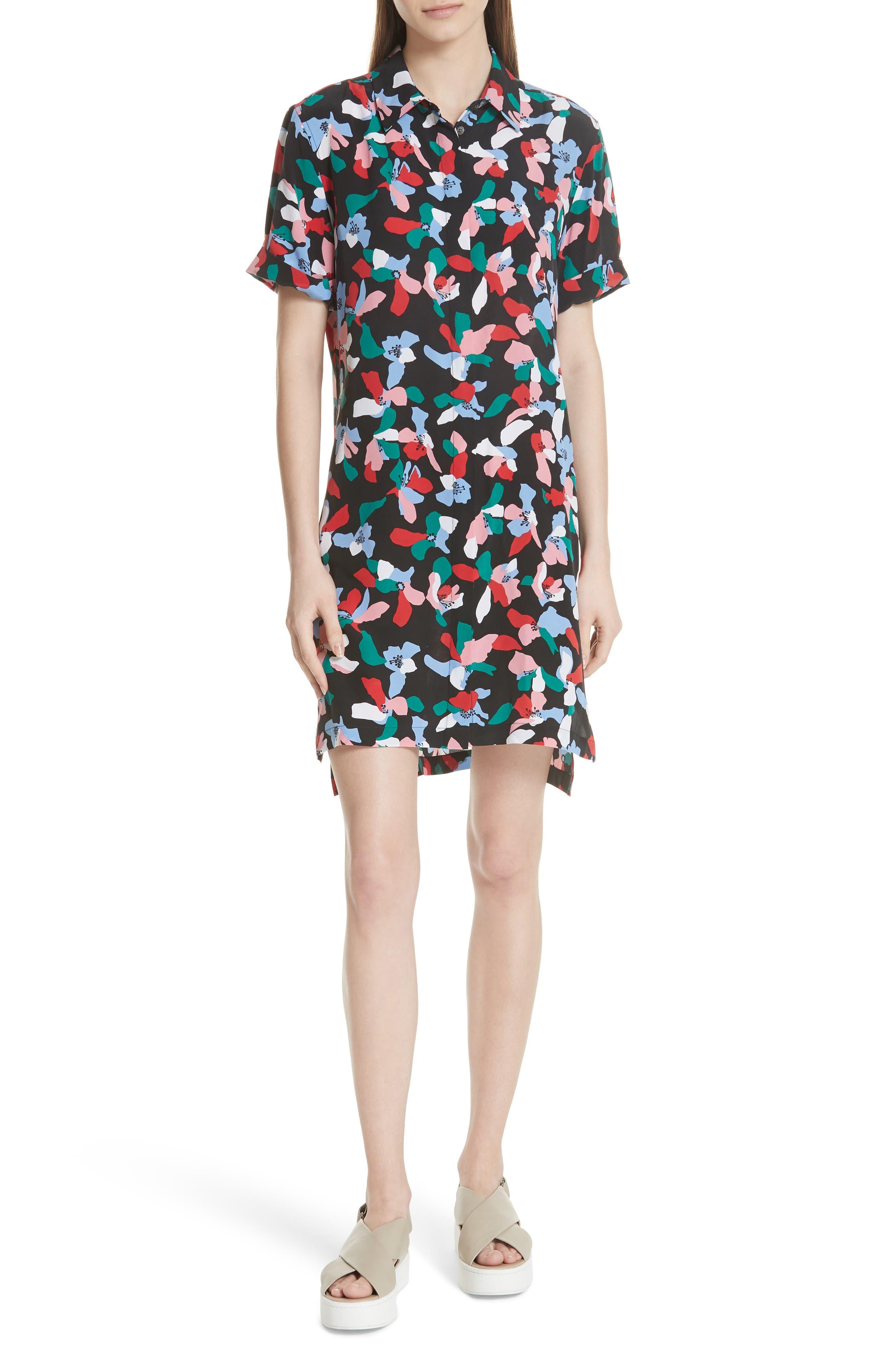 Equipment Mirelle Floral Silk Shirtdress