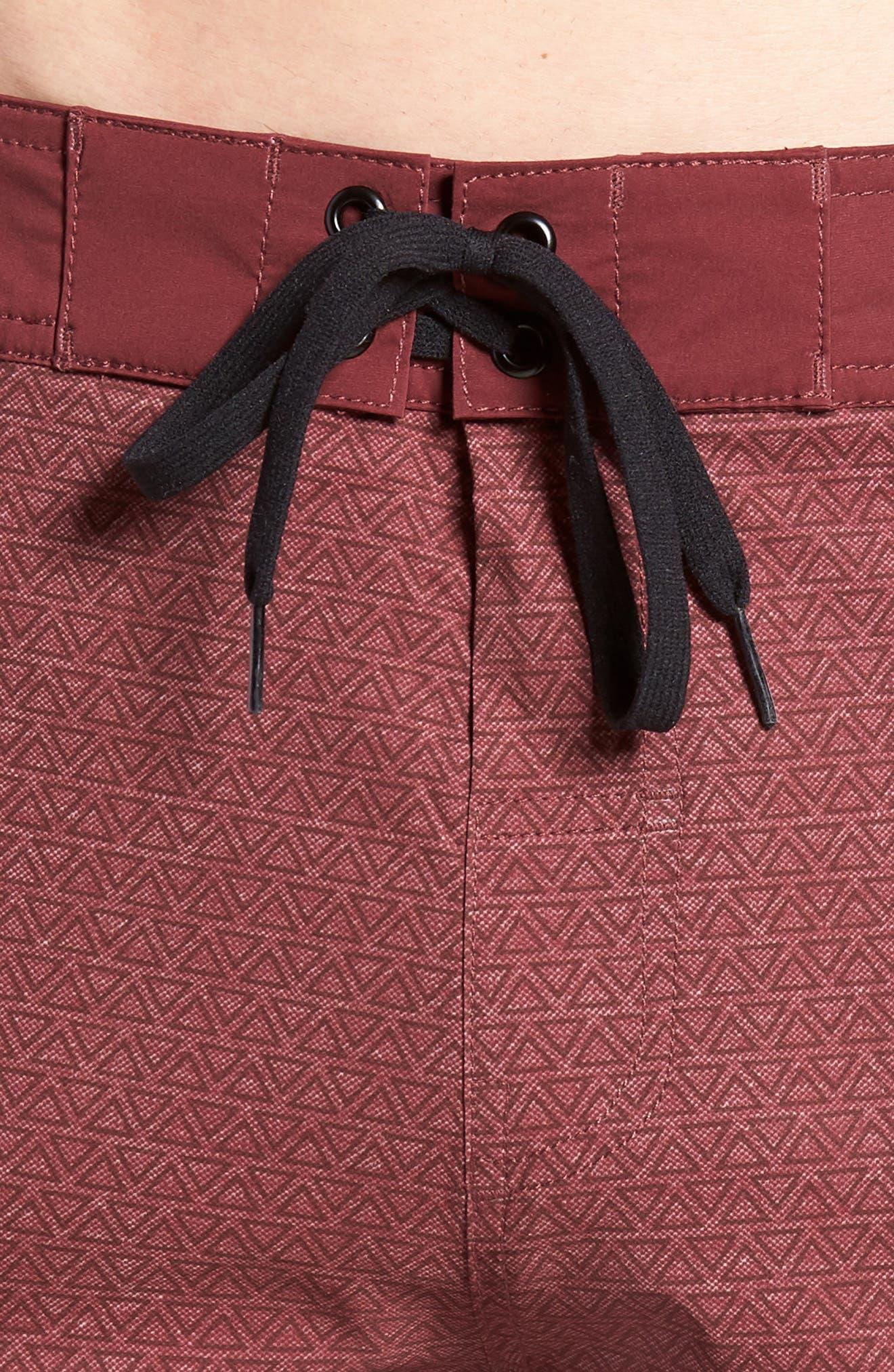 Blanders Regular Fit Board Shorts,                             Alternate thumbnail 4, color,                             Oxblood