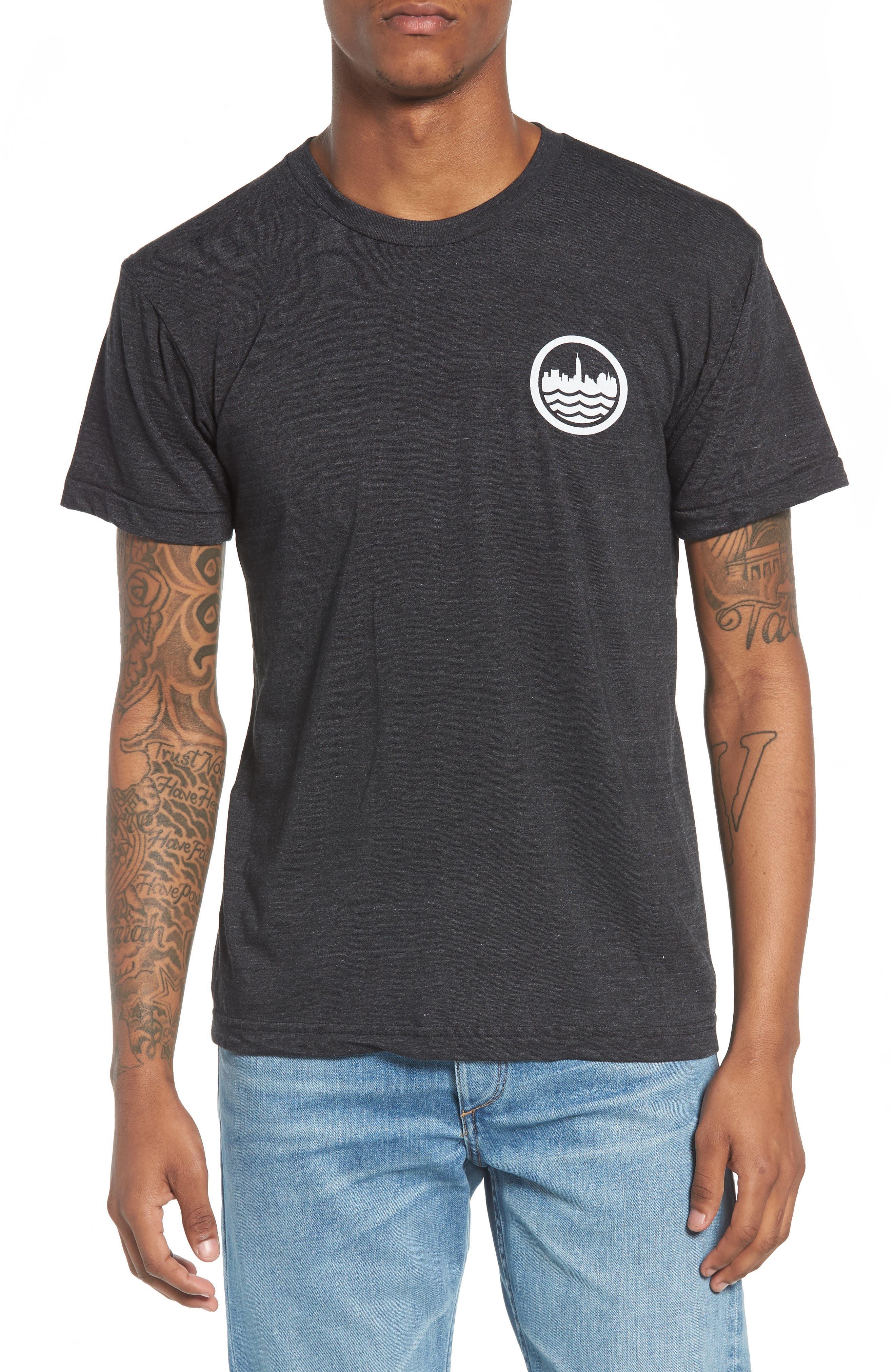 NYC Graphic T-Shirt,                         Main,                         color, Tri Blak