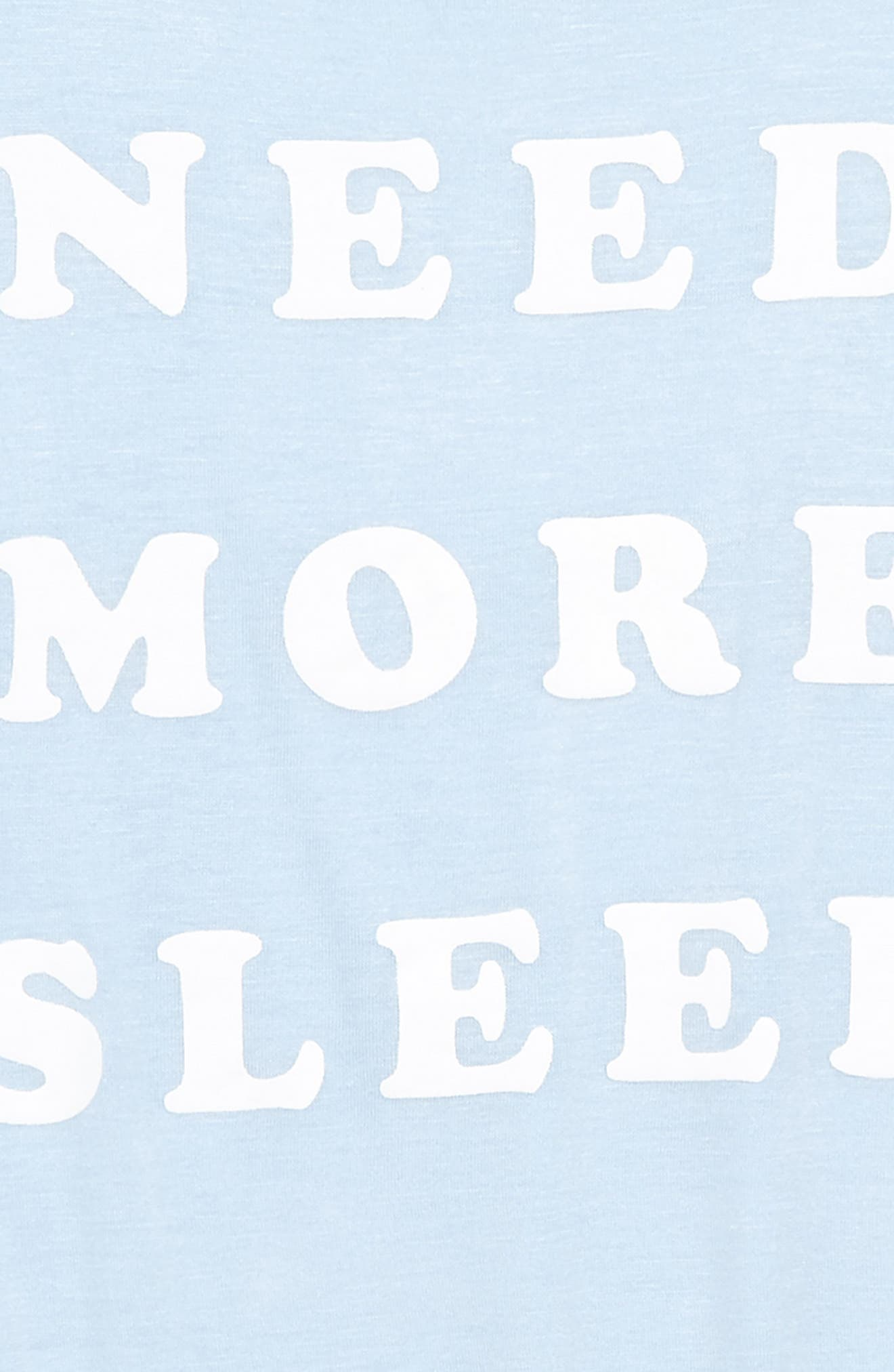 Need More Sleep Tee,                             Alternate thumbnail 2, color,                             Light Denim