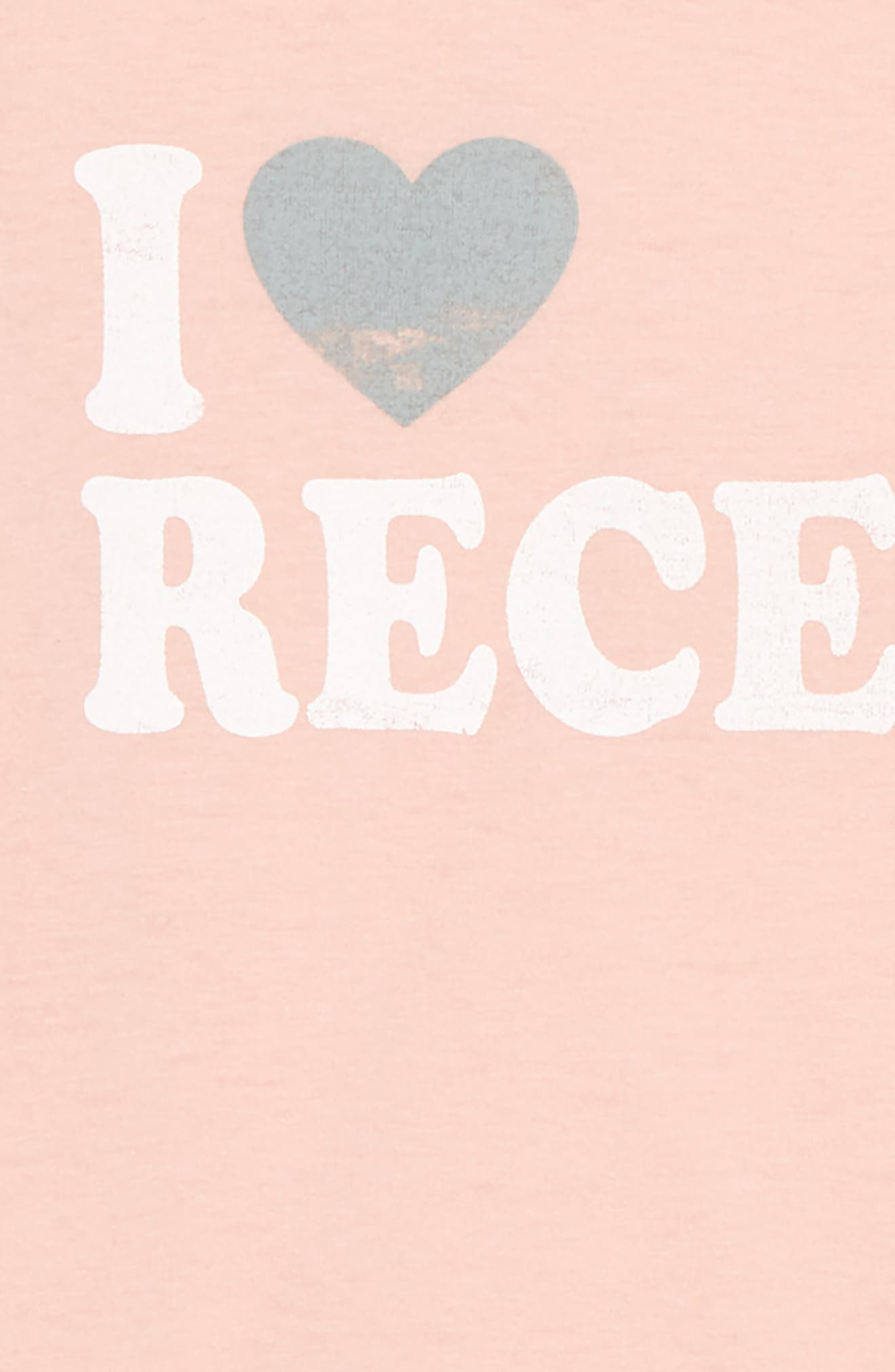 Alternate Image 2  - PPLA I Heart Recess Cold Shoulder Tee (Big Girls)