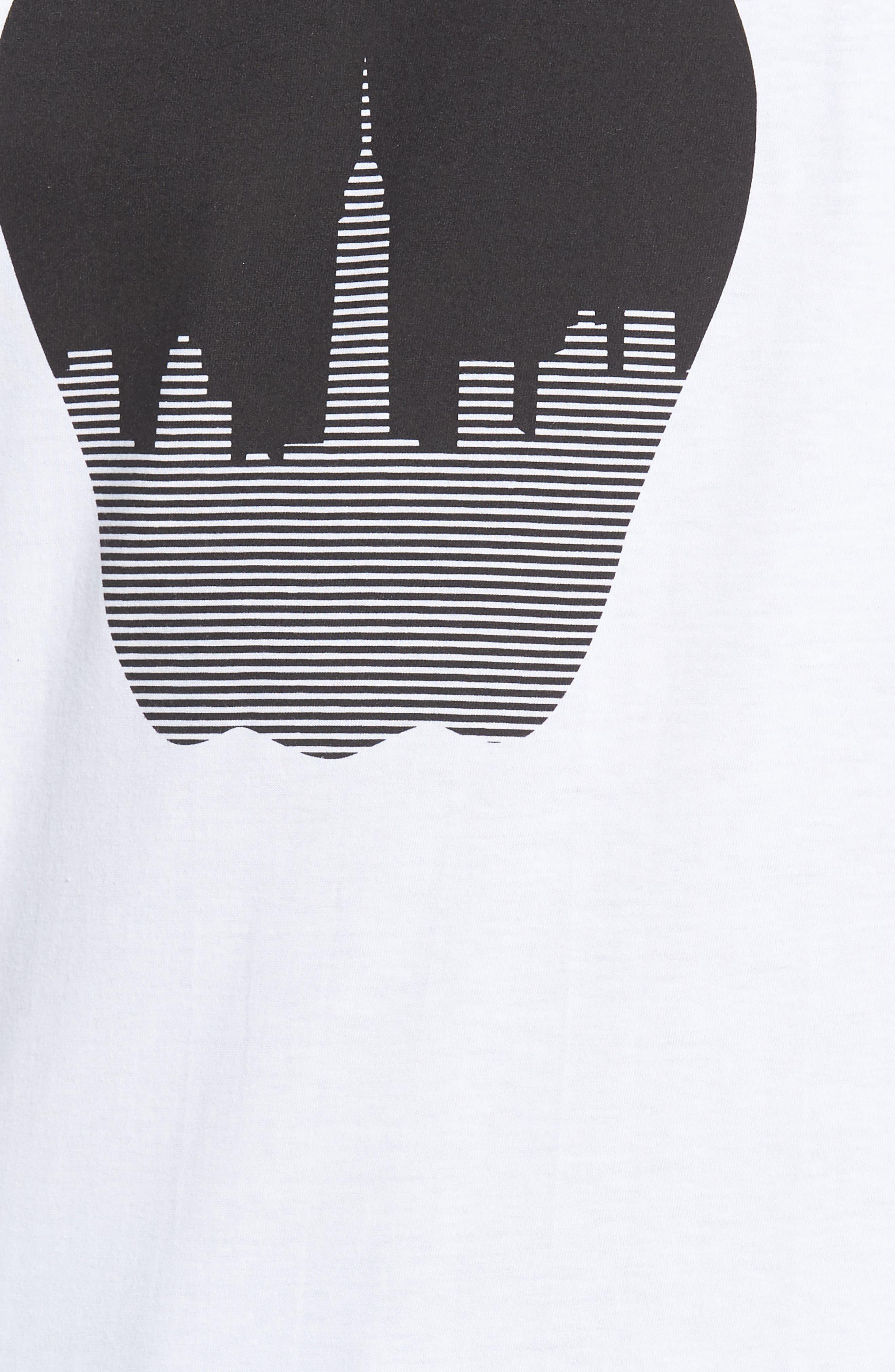 NY Apple Graphic T-Shirt,                             Alternate thumbnail 5, color,                             White