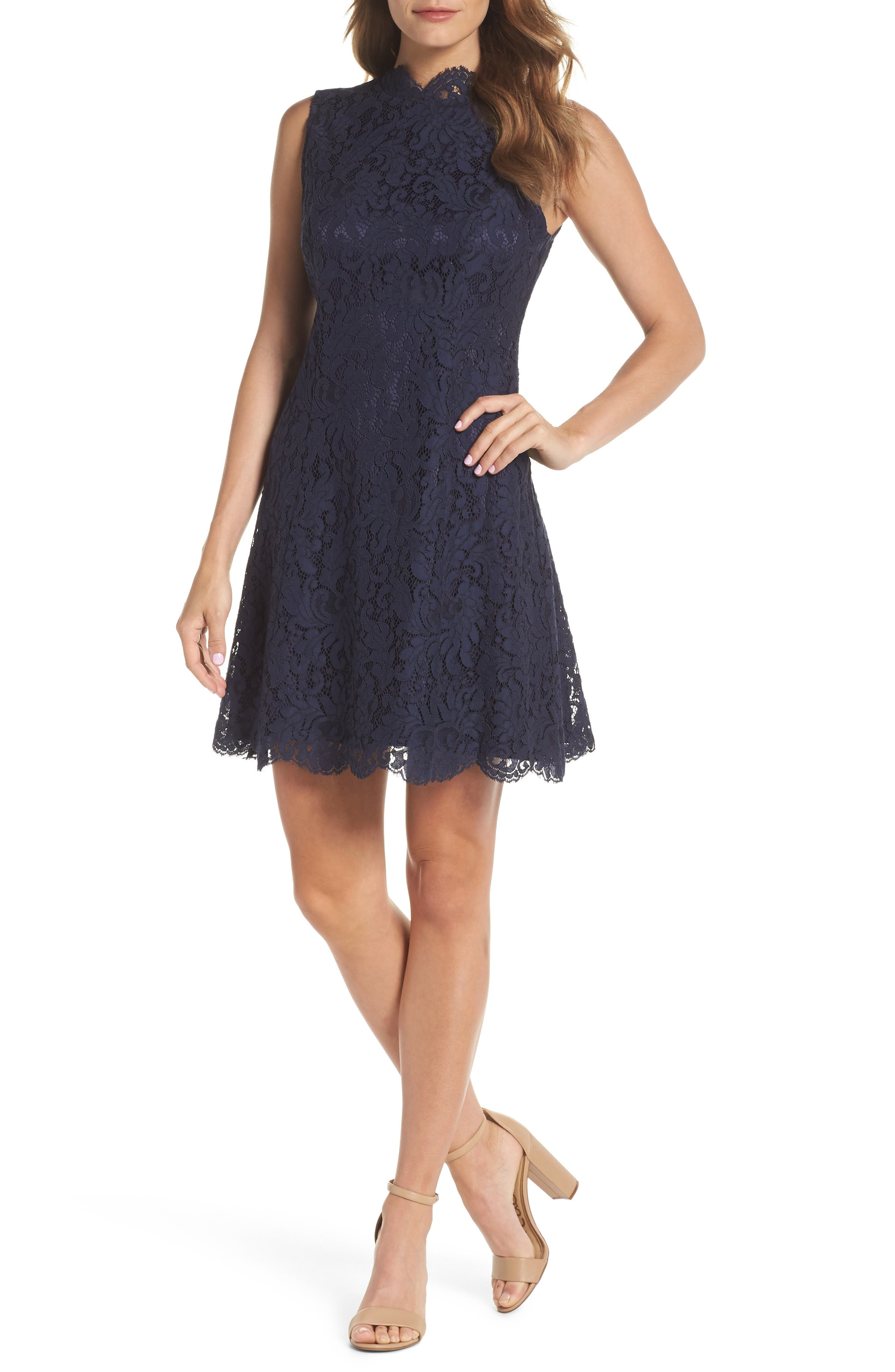 Chelsea28 Sleeveless Lace Minidress (Regular & Petite)