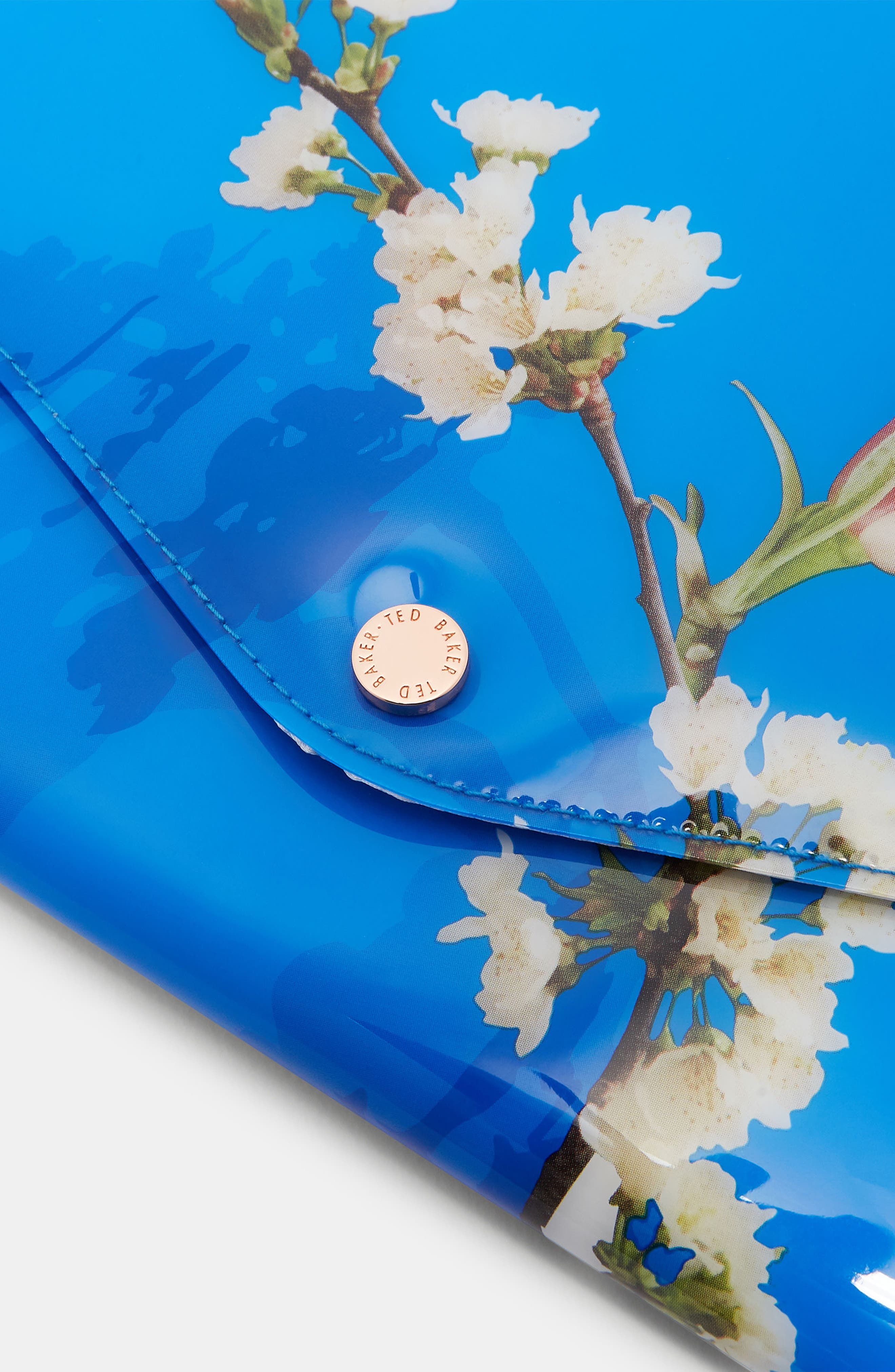 Harmony Envelope Clutch,                             Alternate thumbnail 4, color,                             Bright Blue