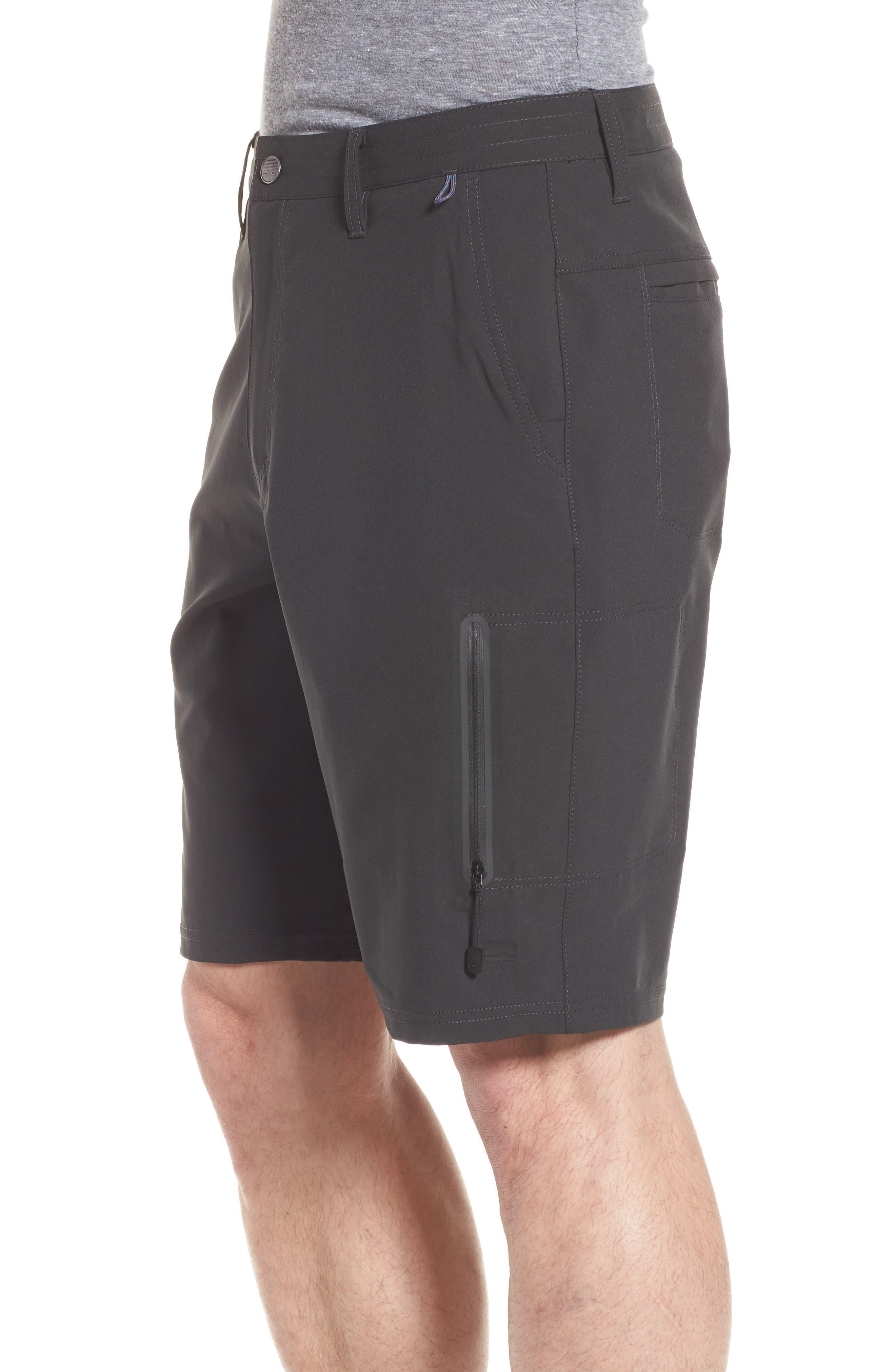 Pipeline Hybrid Shorts,                             Alternate thumbnail 3, color,                             Black