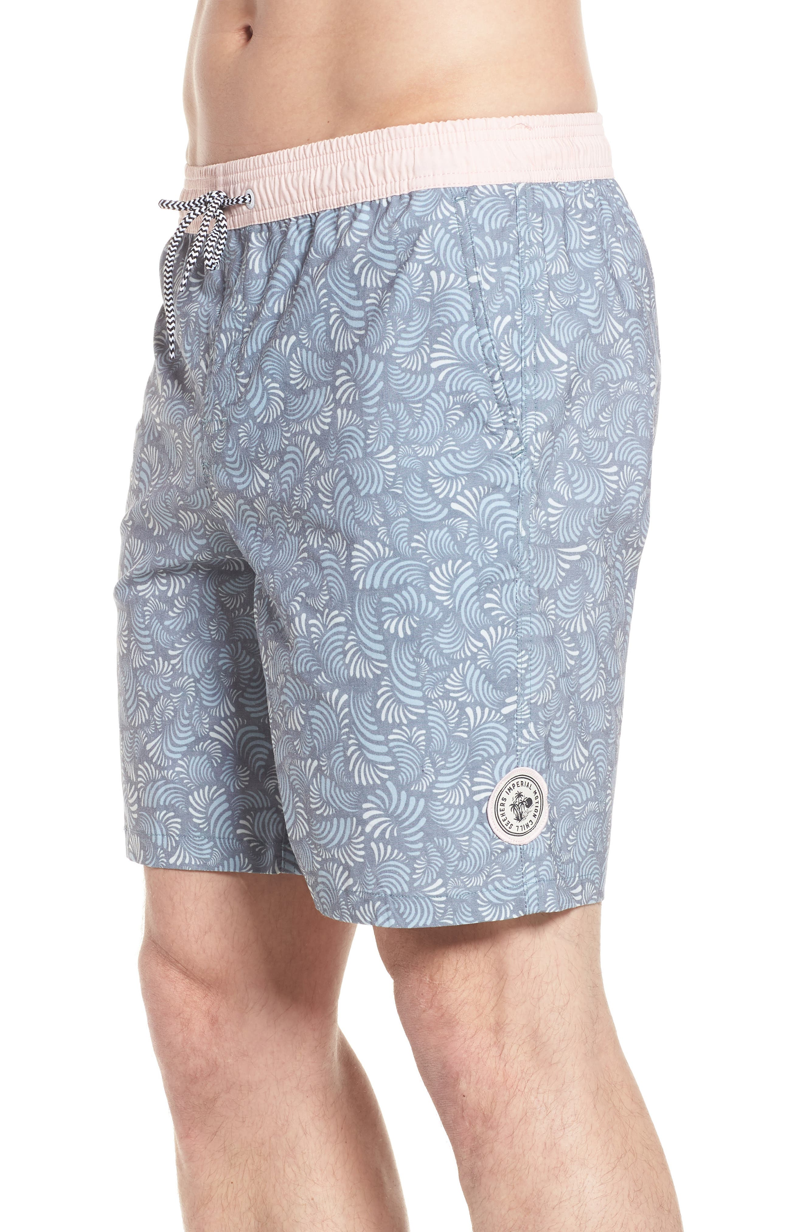 Hayworth Mix Board Shorts,                             Alternate thumbnail 3, color,                             Light Pink/ Blue