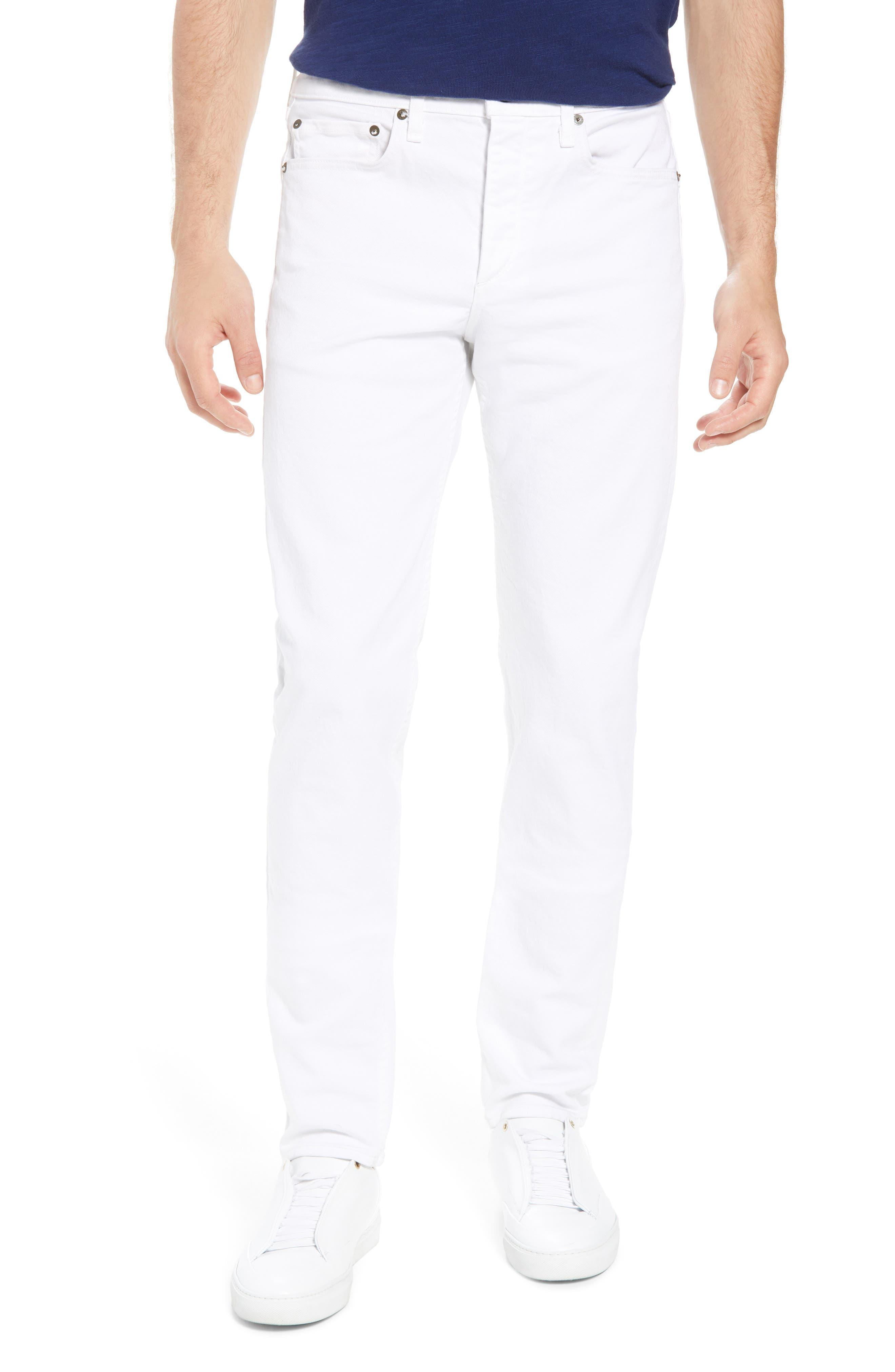 Fit 2 Slim Fit Jeans,                             Main thumbnail 1, color,                             White