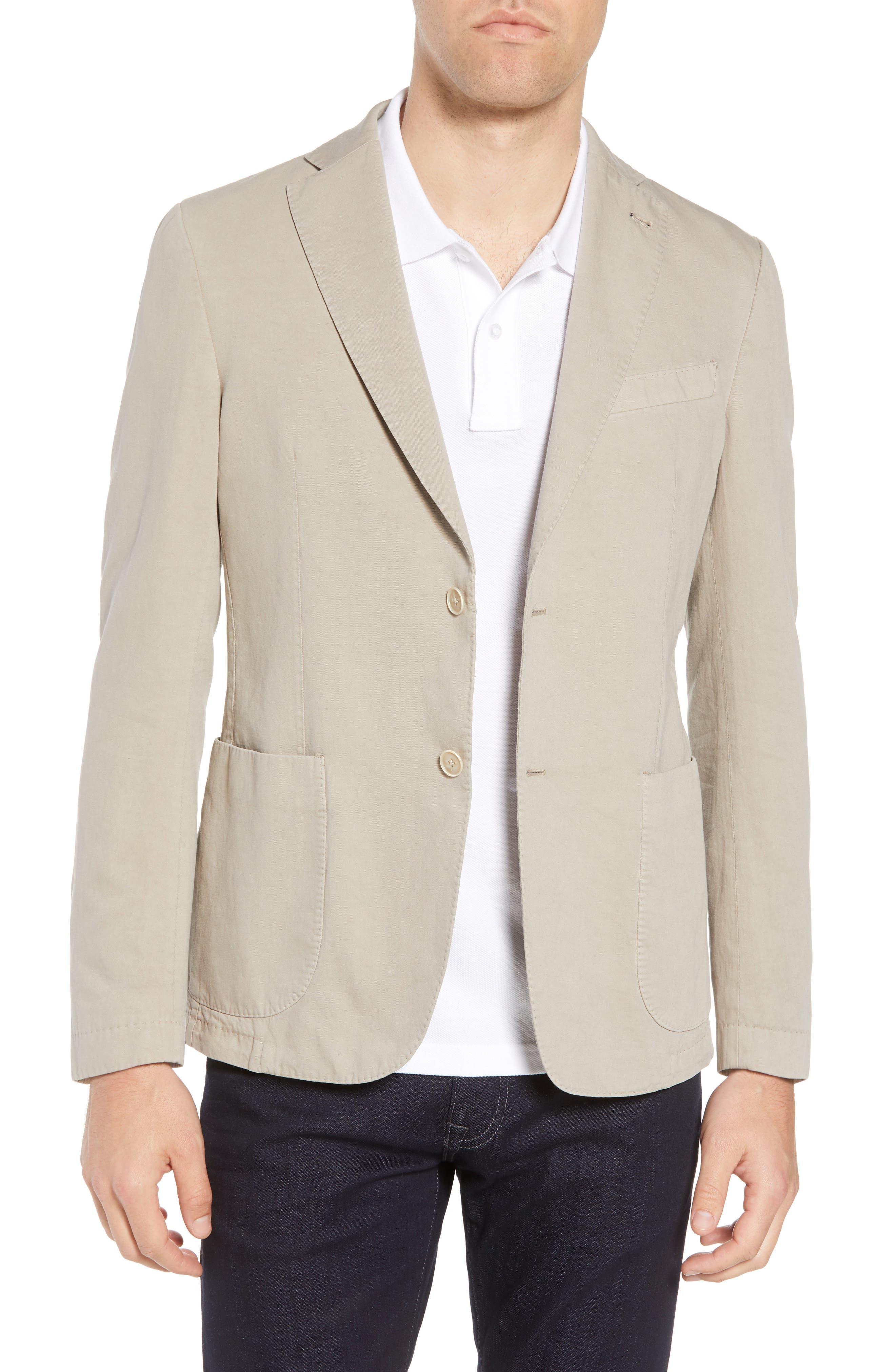 Bugatchi Unstructured Cotton & Linen Blazer