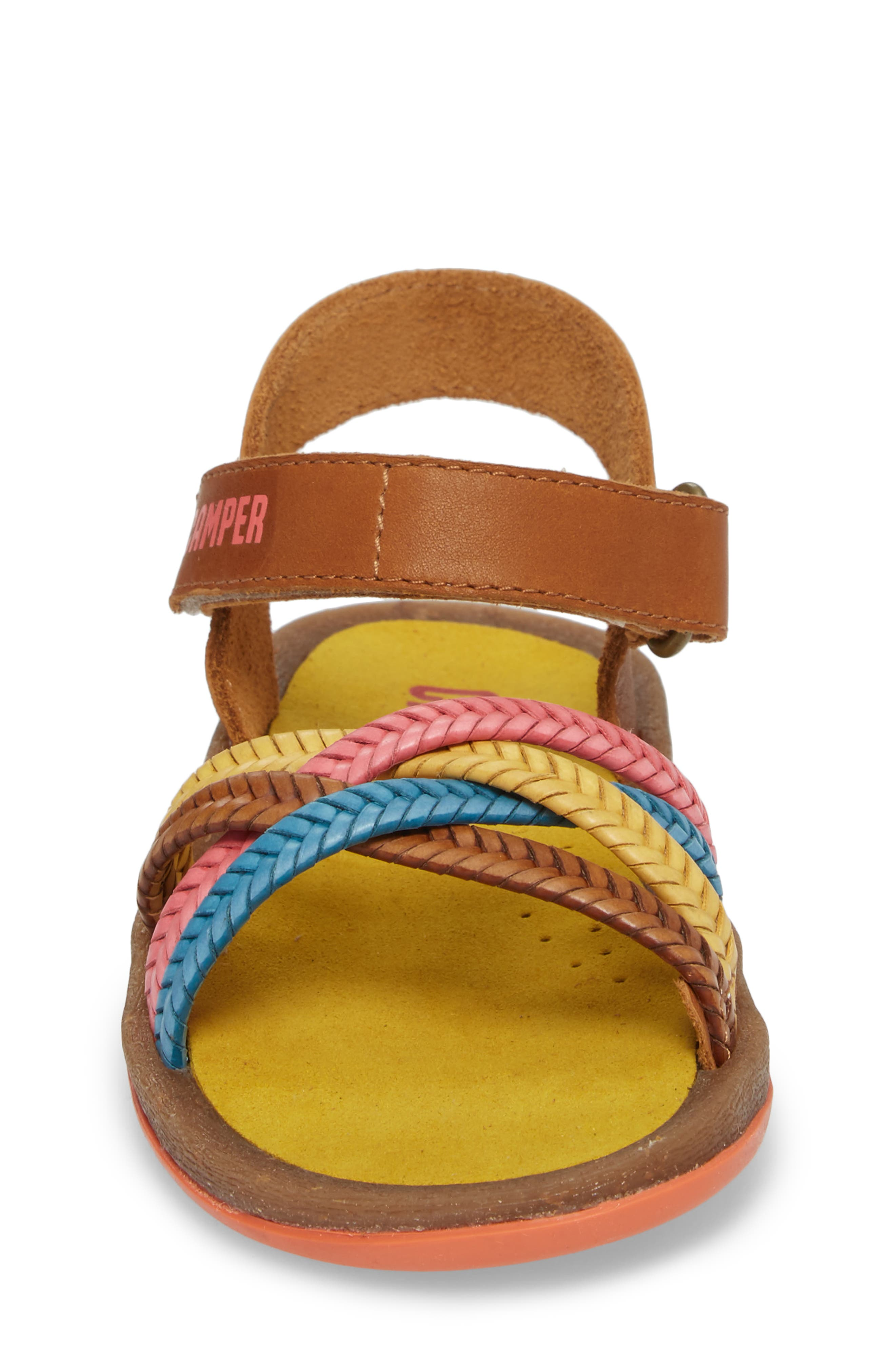 Bicho Braided Sandal,                             Alternate thumbnail 4, color,                             Multi