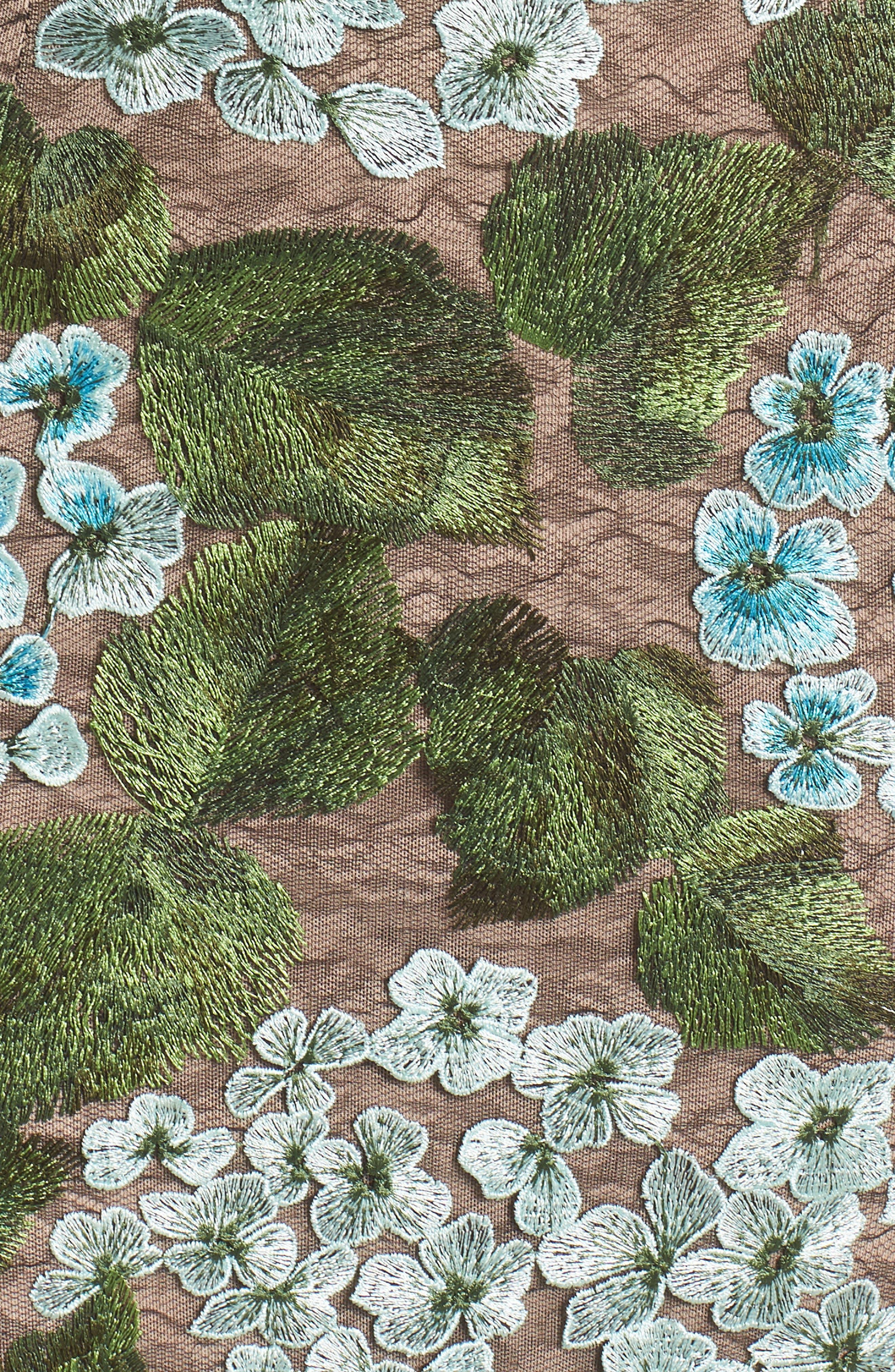 Blue Cherry Hydrangea Lace Sheath Dress,                             Alternate thumbnail 5, color,                             Multicolor