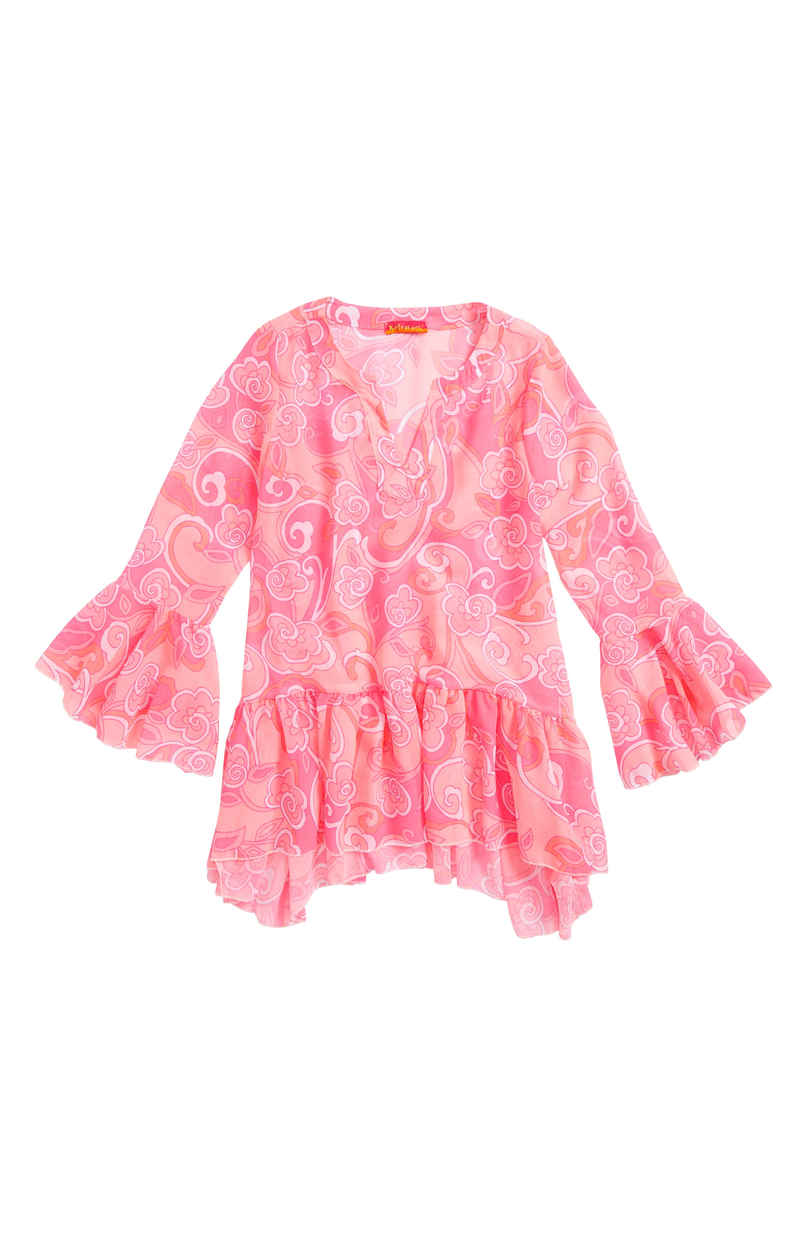 Chiffon Cover-Up Tunic,                         Main,                         color, Pink