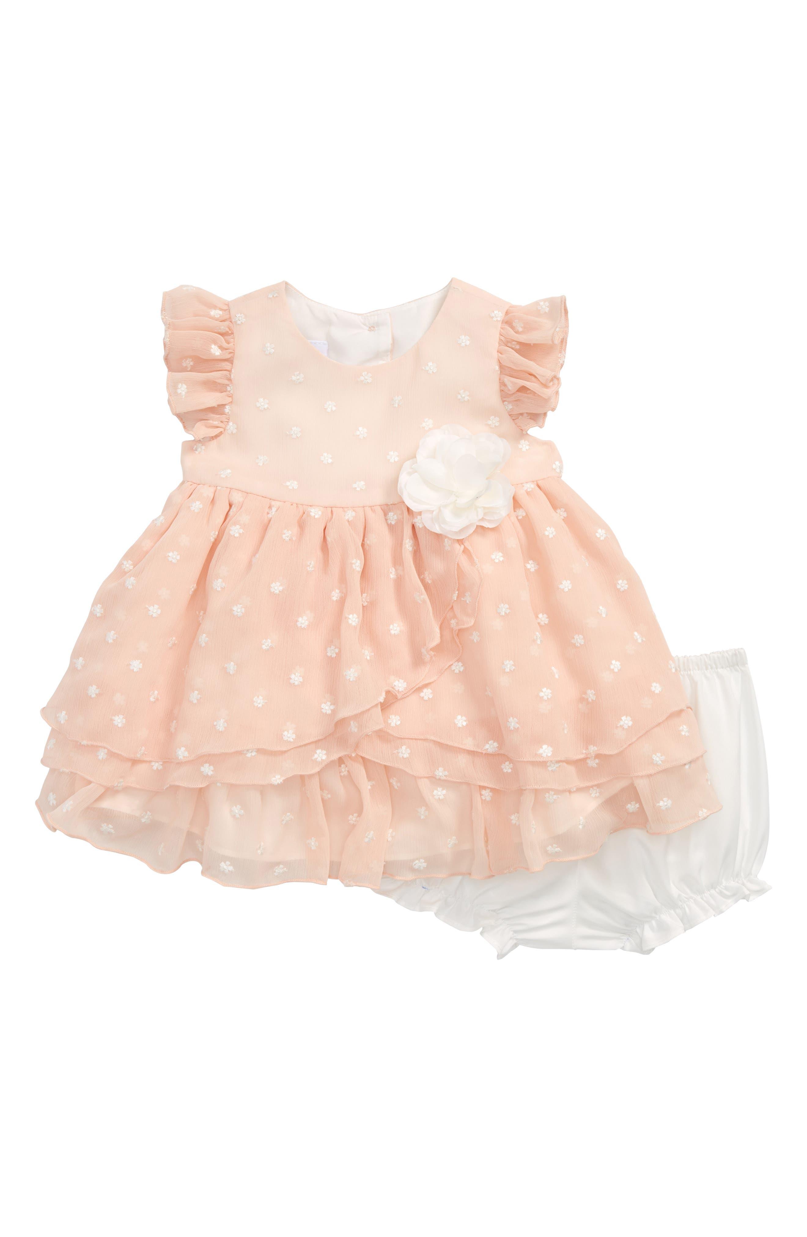 Frais Crinkle Chiffon Dress (Baby Girls)