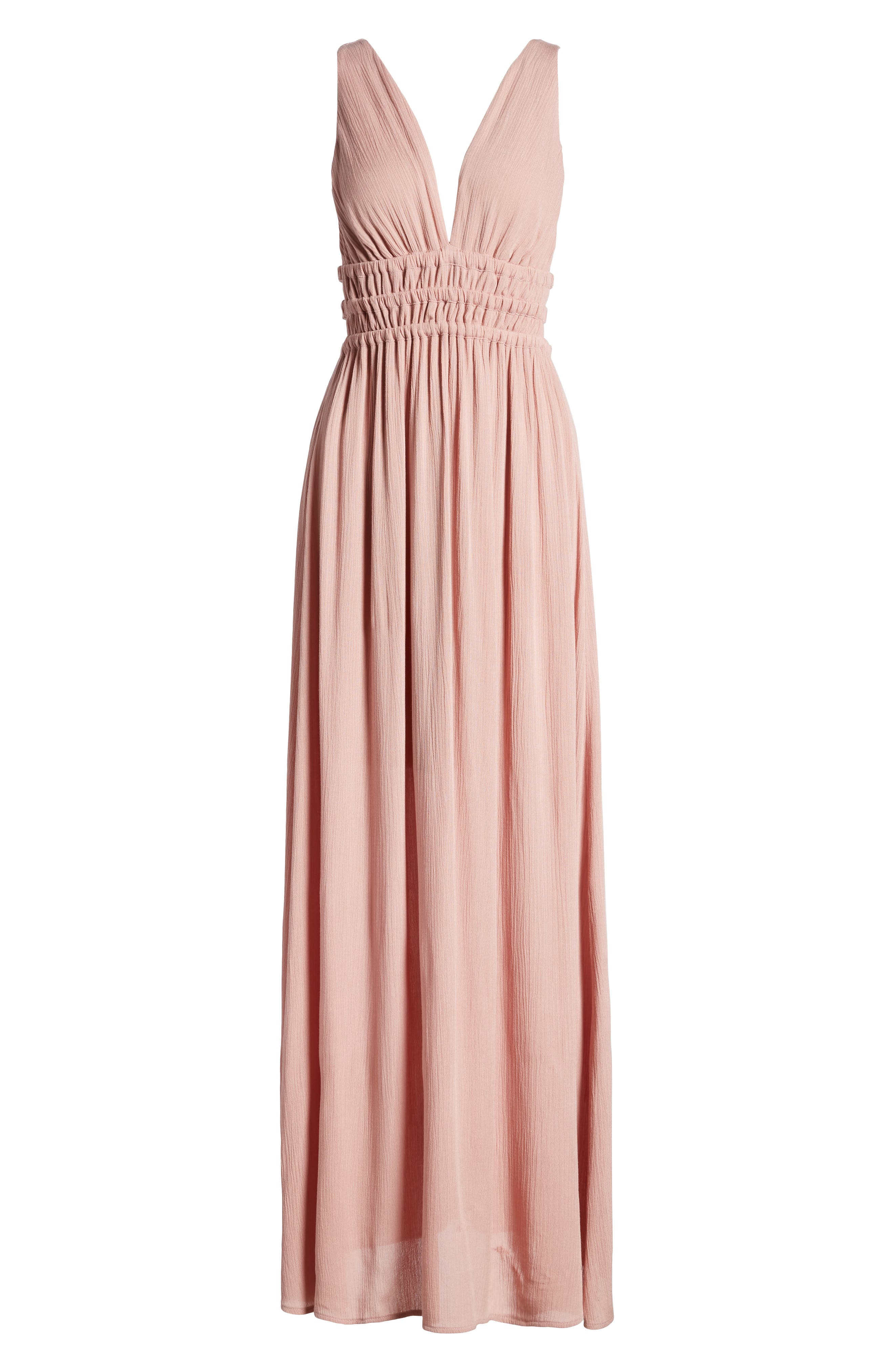 Surrey Maxi Dress,                             Alternate thumbnail 7, color,                             Nude Rose