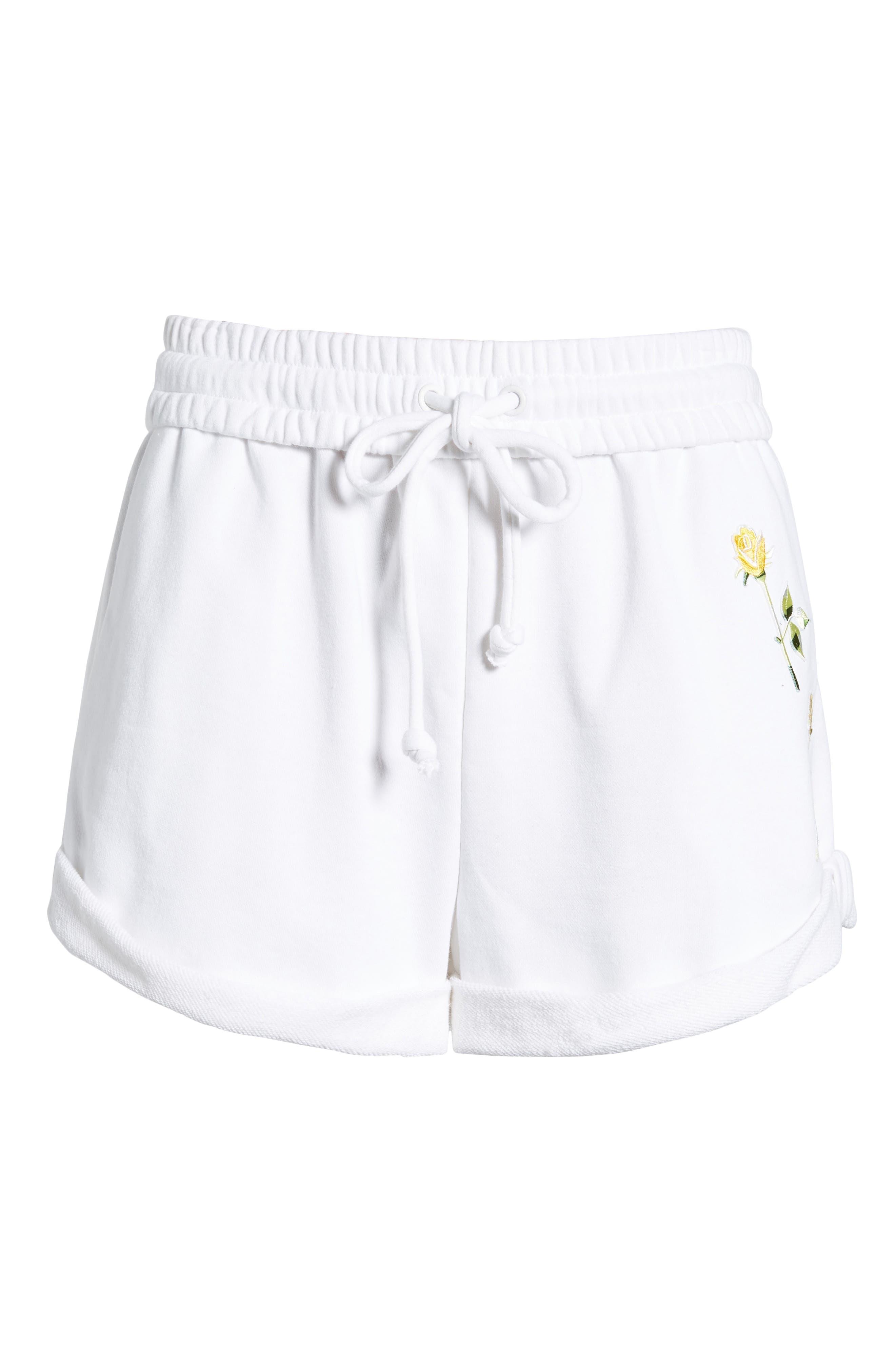 Rolled Drawstring Shorts,                             Alternate thumbnail 6, color,                             Bright White