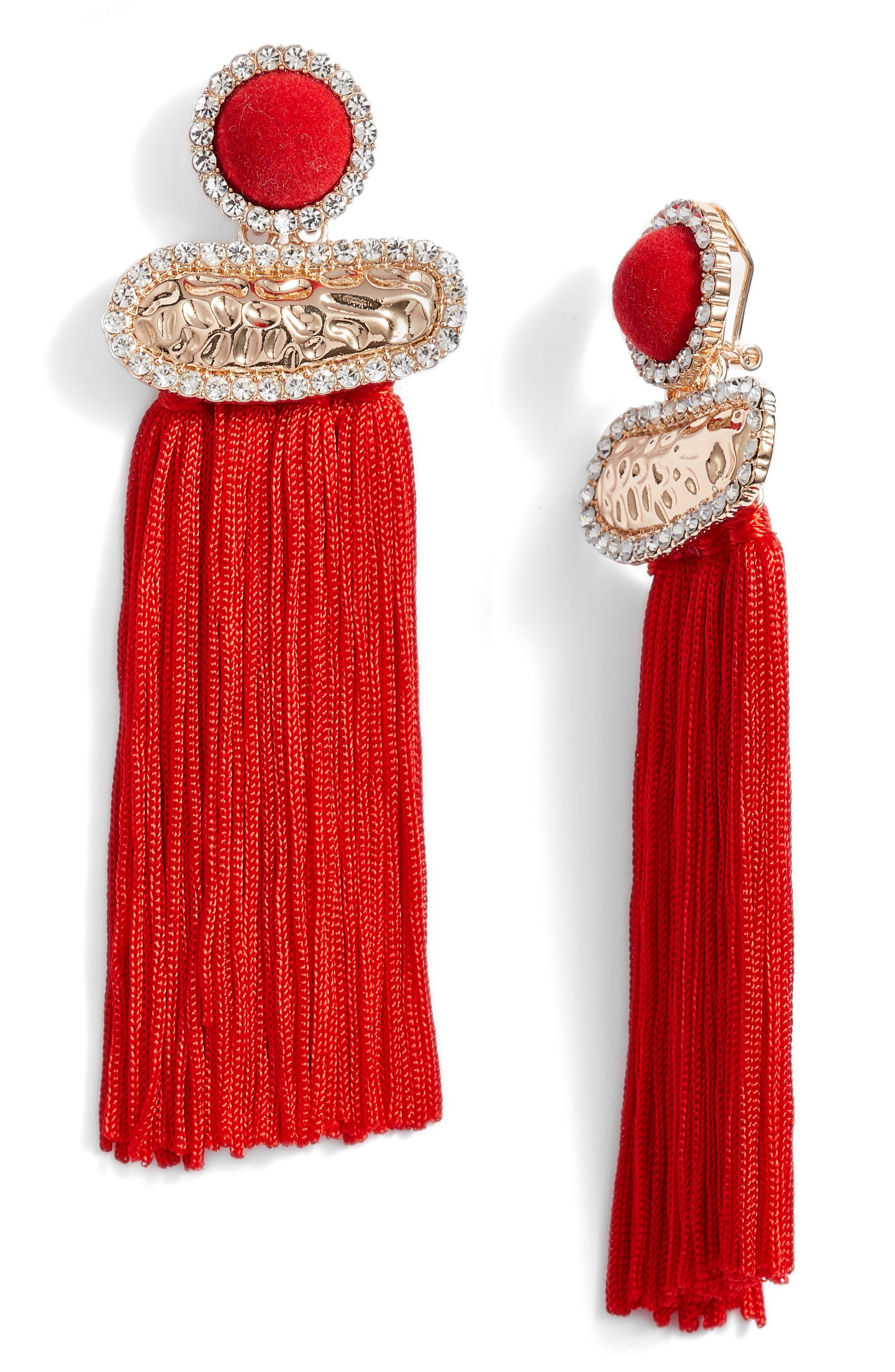 Tasha Textured Metal Fringe Earrings