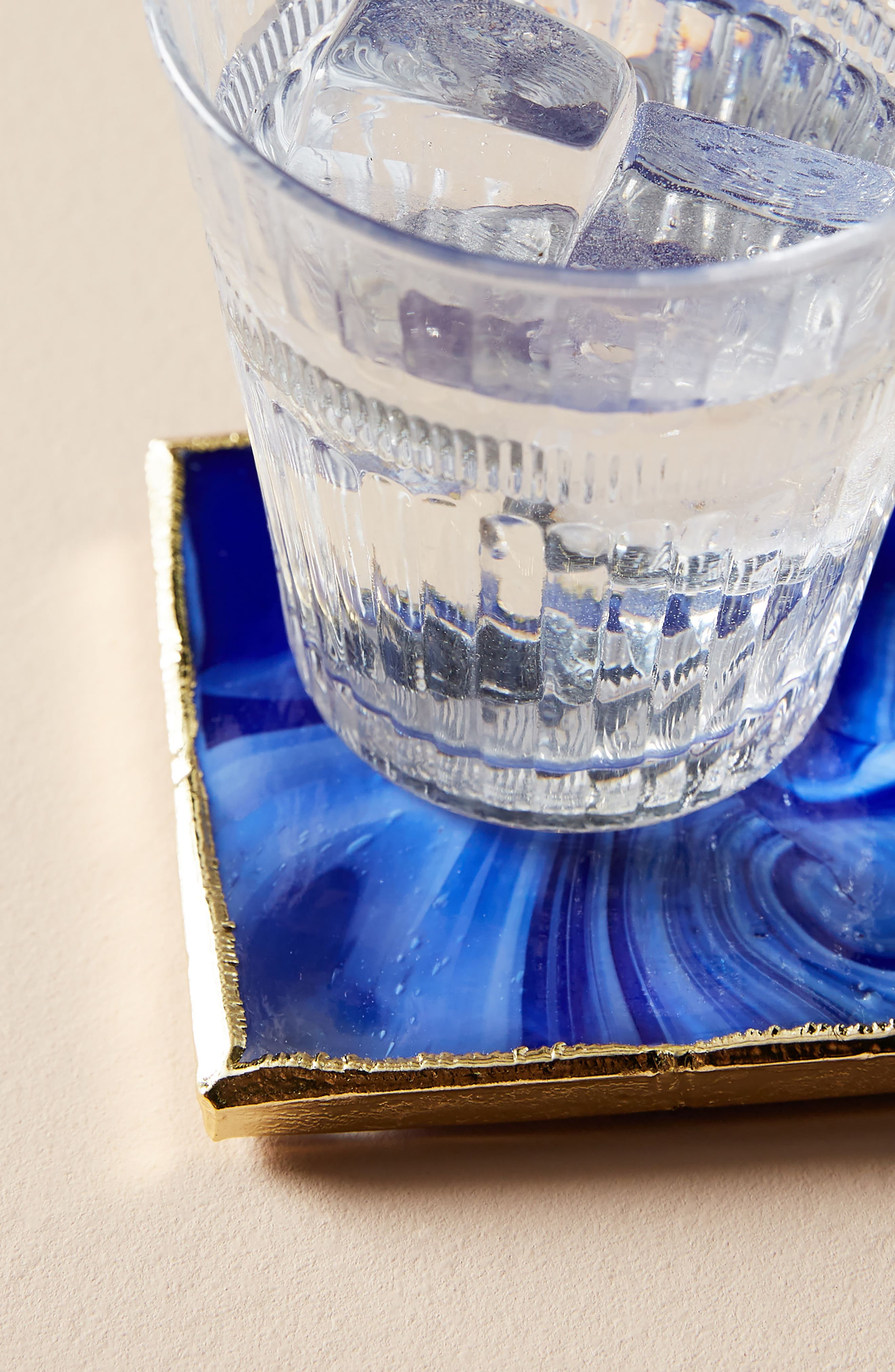 Swirled Coaster,                             Alternate thumbnail 2, color,                             Blue