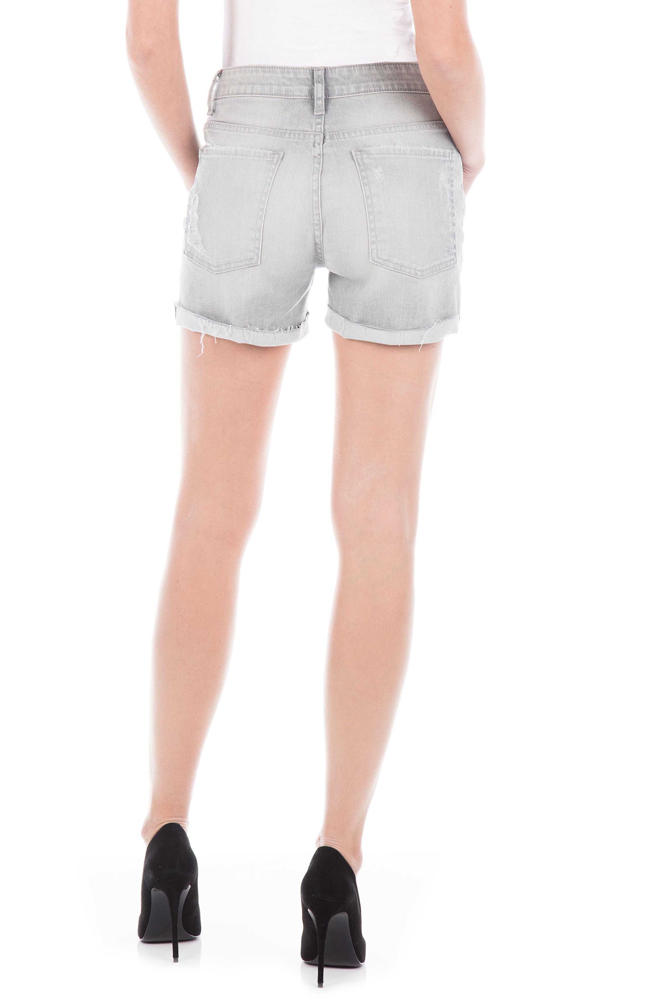 Jonesy High Waist Denim Shorts,                             Alternate thumbnail 2, color,                             Mercury Vintage