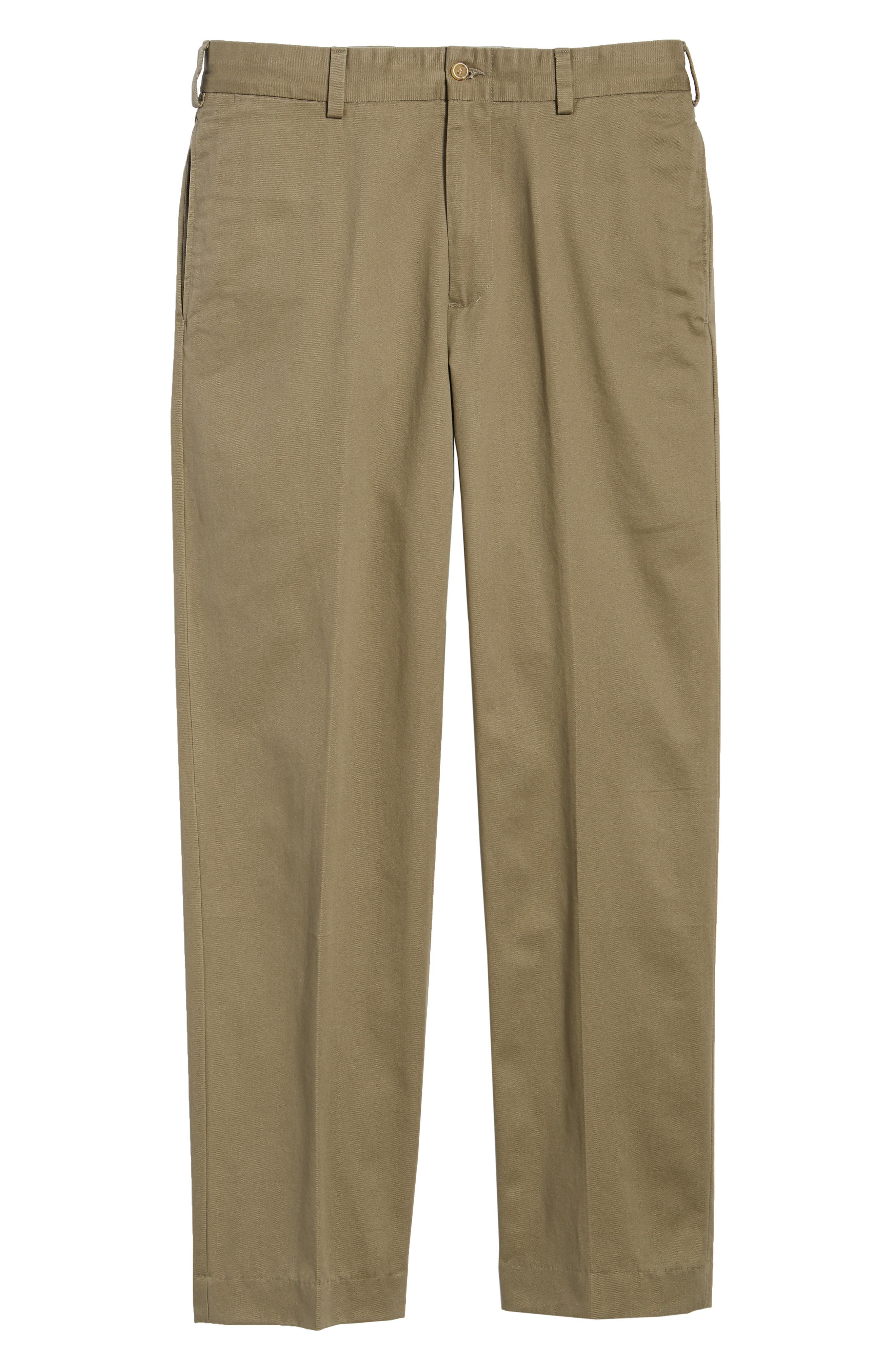 M2 Classic Fit Flat Front Vintage Twill Pants,                             Alternate thumbnail 6, color,                             Olive