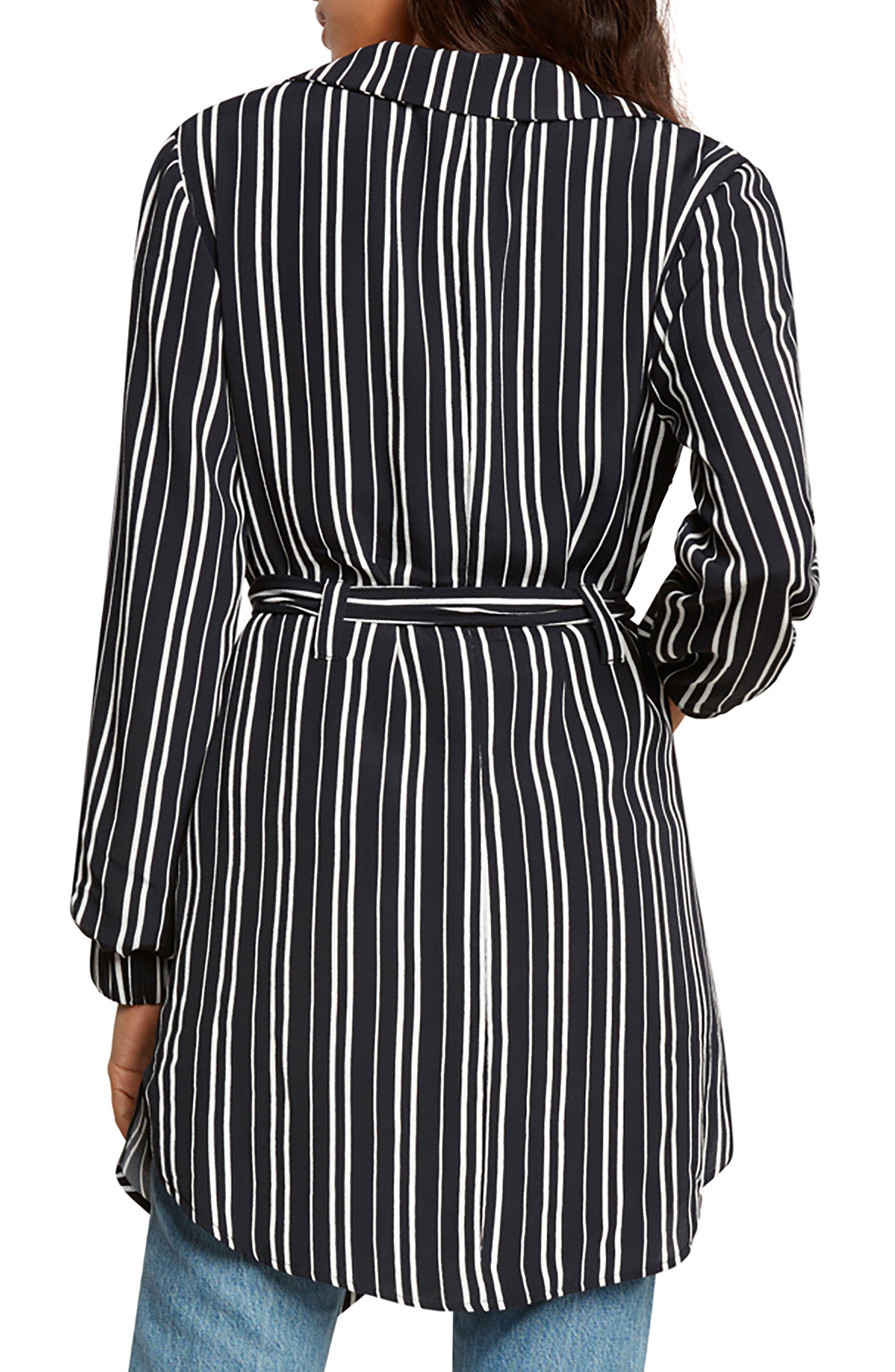 Stripe Blazer,                             Alternate thumbnail 2, color,                             Black