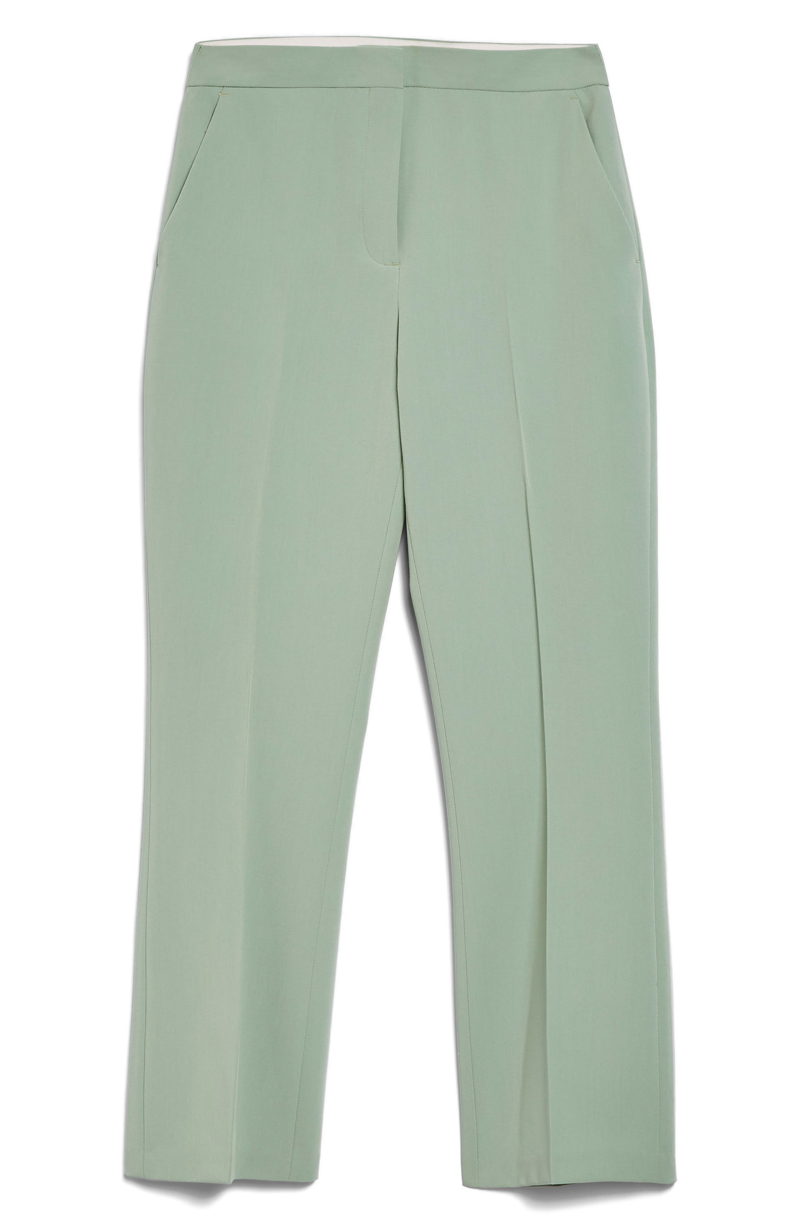 Cropped Suit Trousers,                             Alternate thumbnail 3, color,                             Light Green