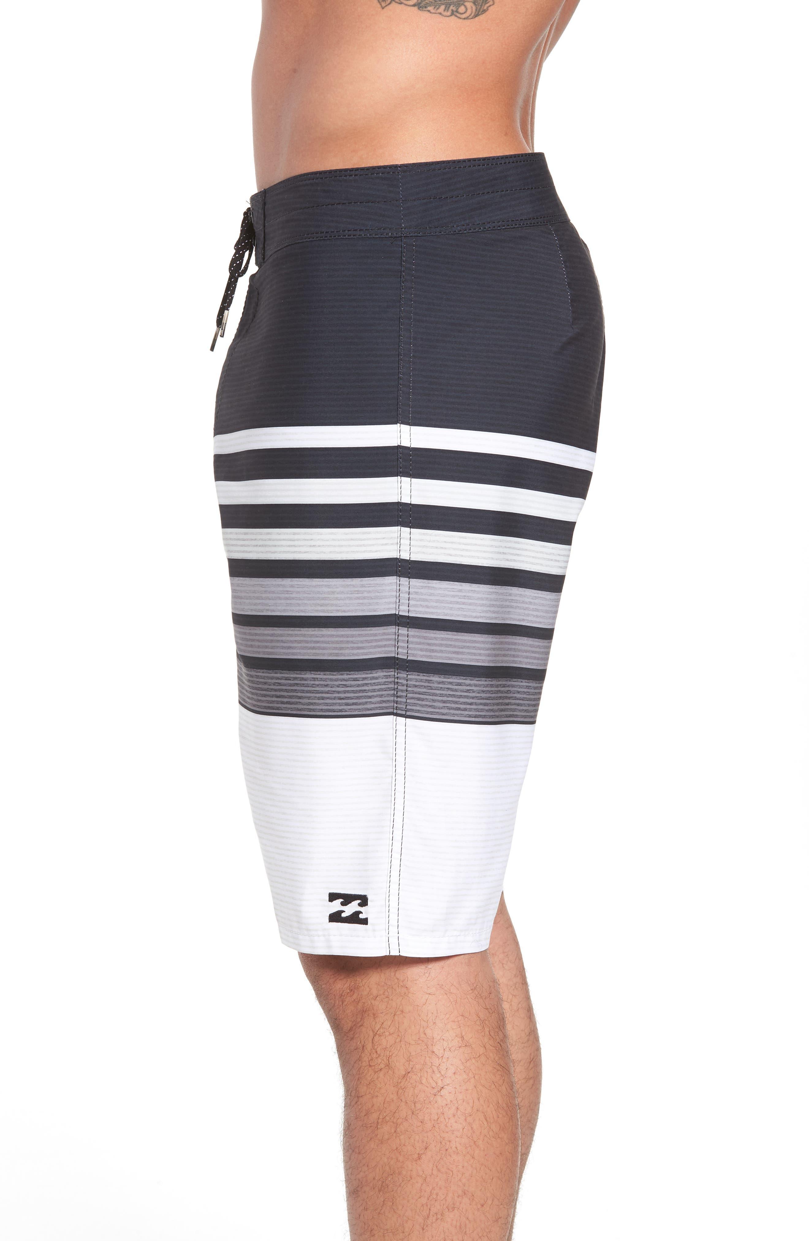 All Day OG Stripe Board Shorts,                             Alternate thumbnail 4, color,                             Black