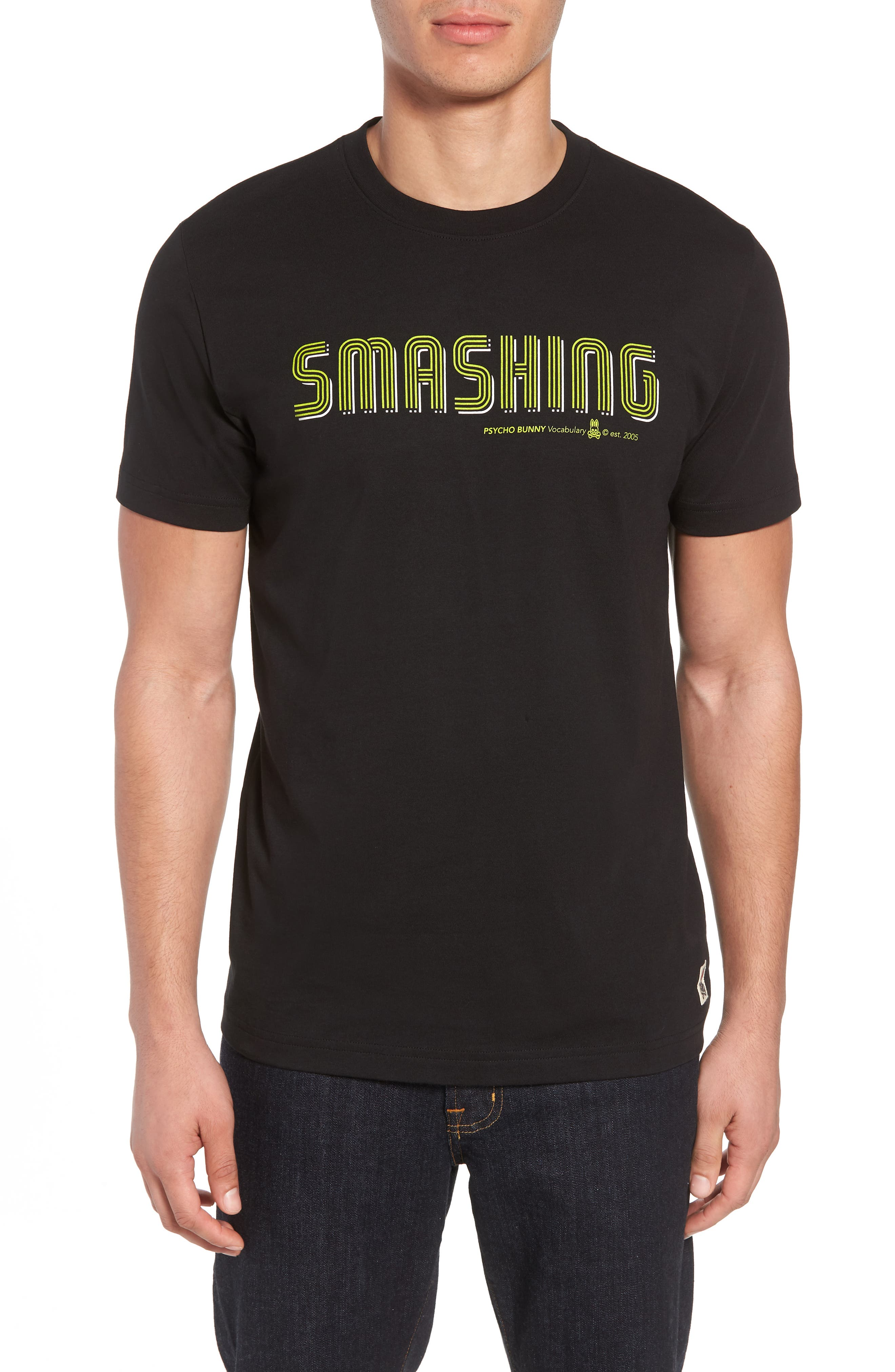 Smashing Graphic T-Shirt,                             Main thumbnail 1, color,                             Black