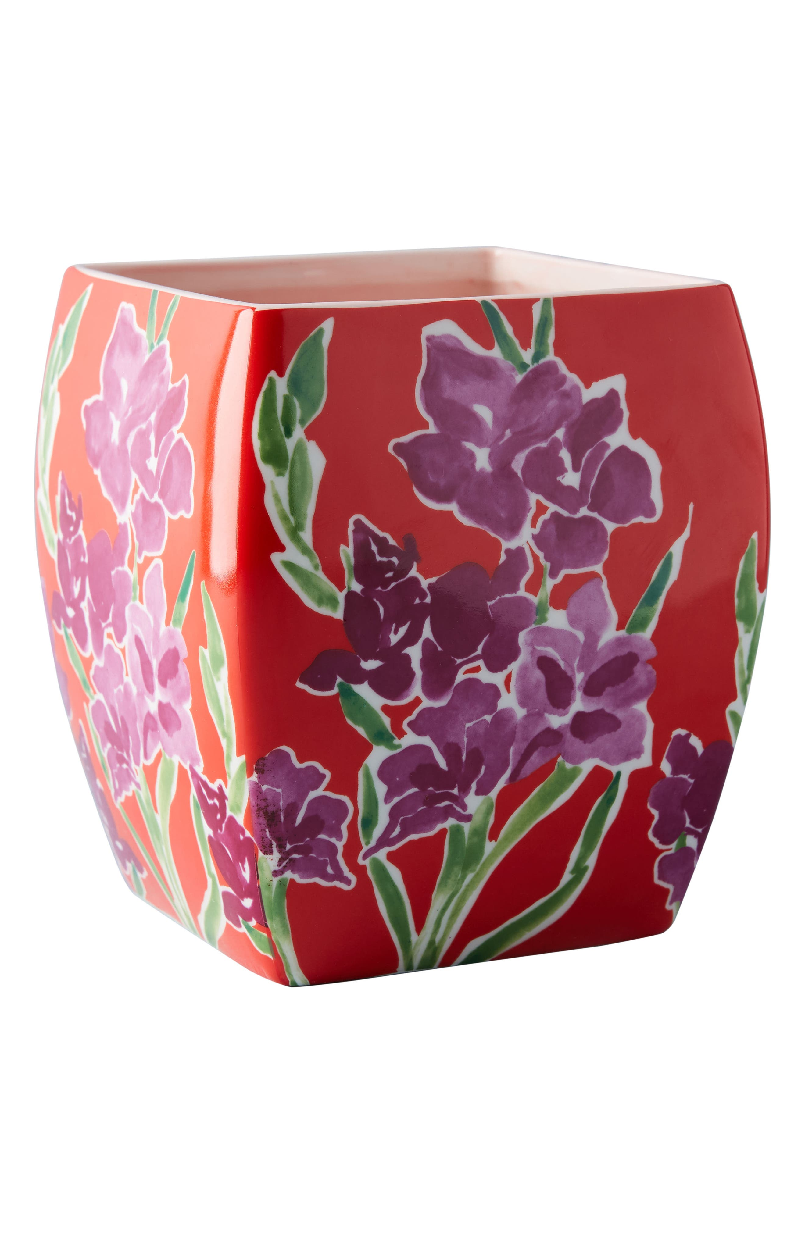 Sisters Gulassa Floral Pot,                             Alternate thumbnail 4, color,                             Red