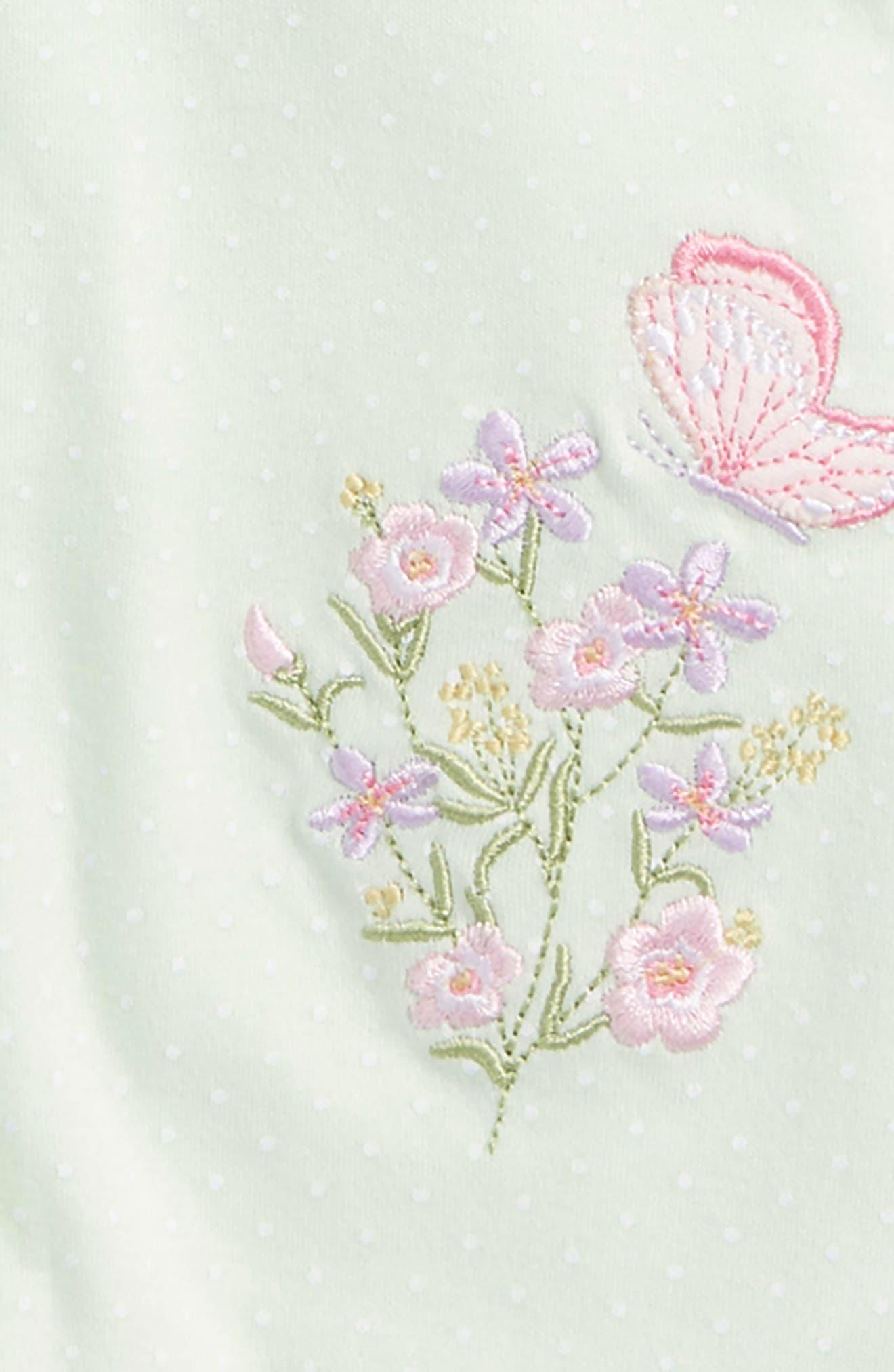 Alternate Image 2  - Little Me Botanical 2-Pack Rompers (Baby Girls)