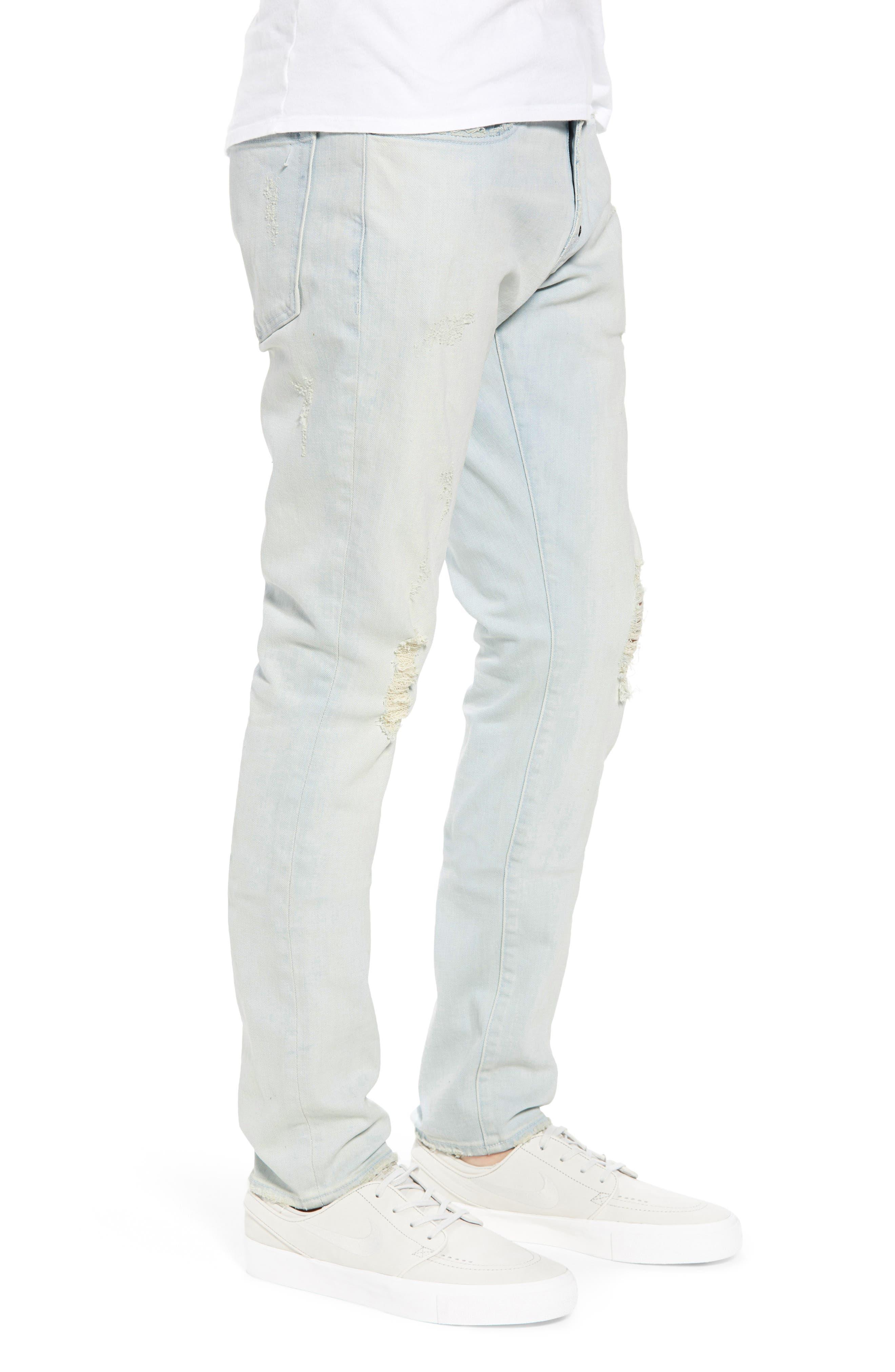 Windsor Slim Fit Jeans,                             Alternate thumbnail 3, color,                             Blue