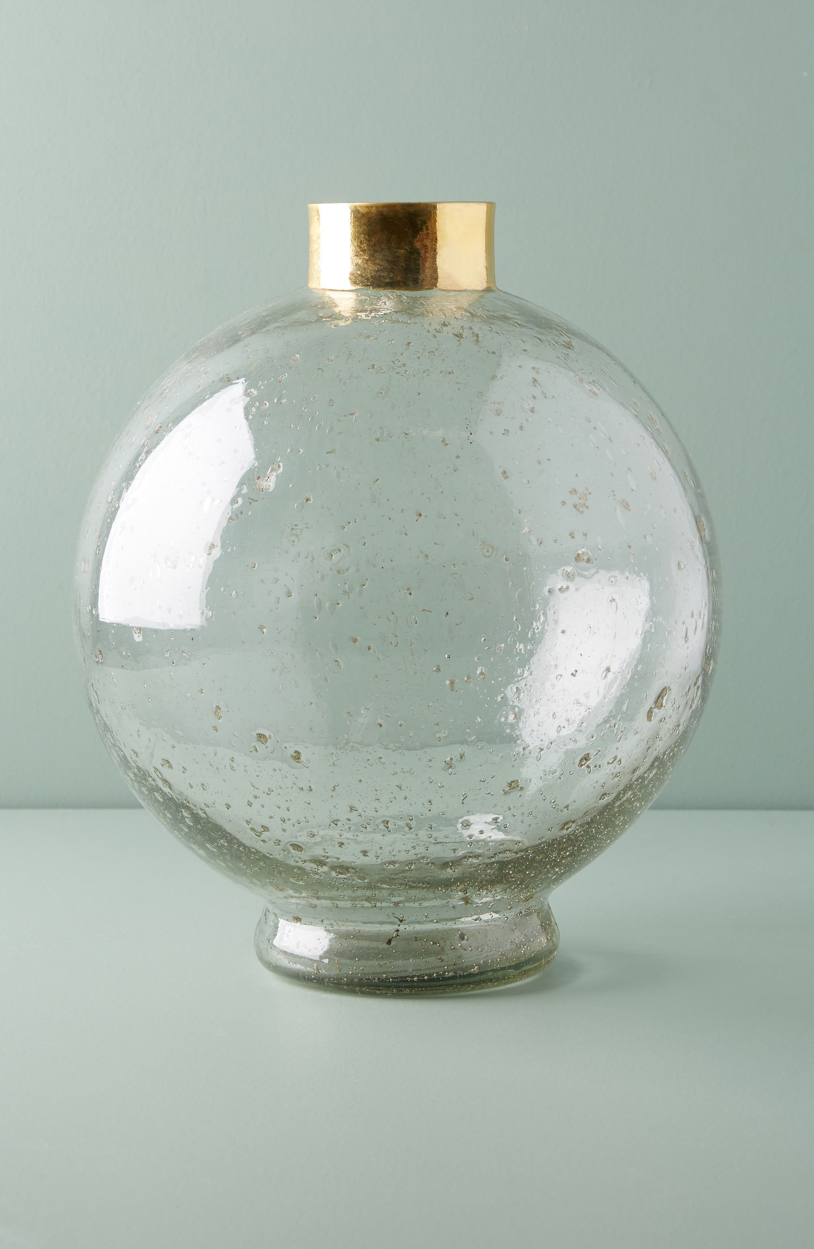 Gilded Large Sphere Vase,                             Main thumbnail 1, color,                             Gold