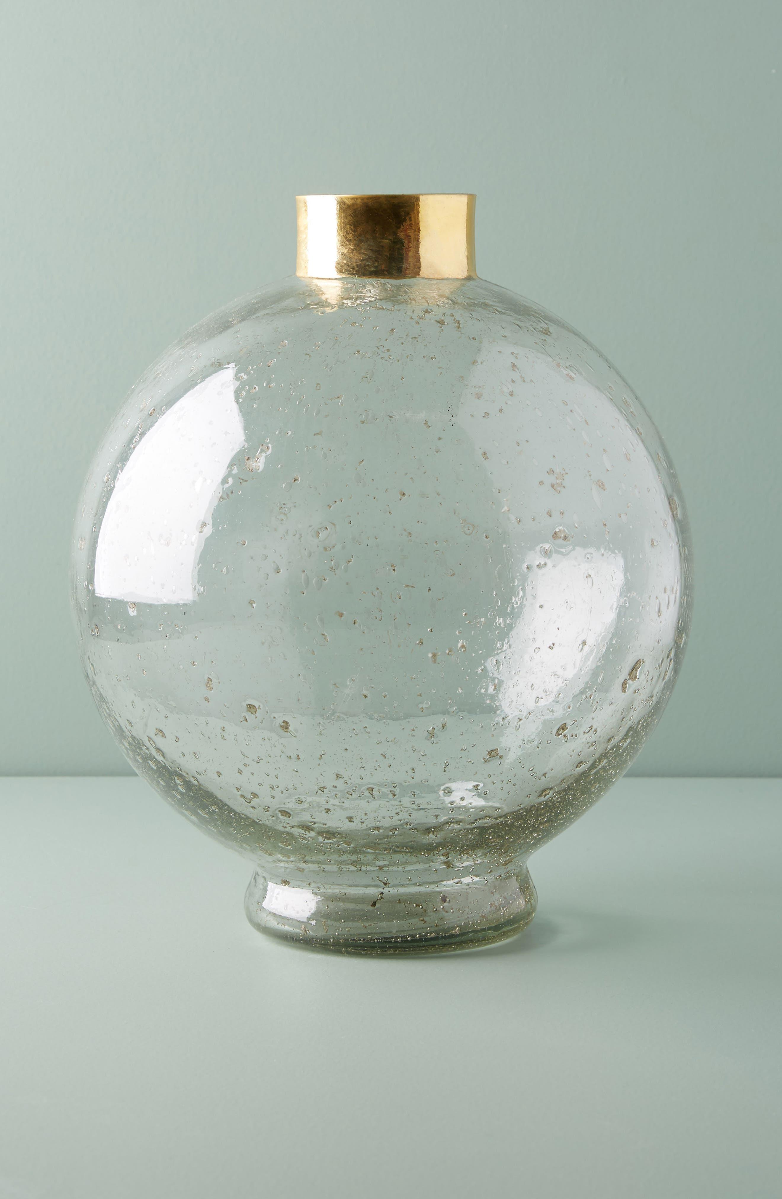 Anthropologie Gilded Large Sphere Vase