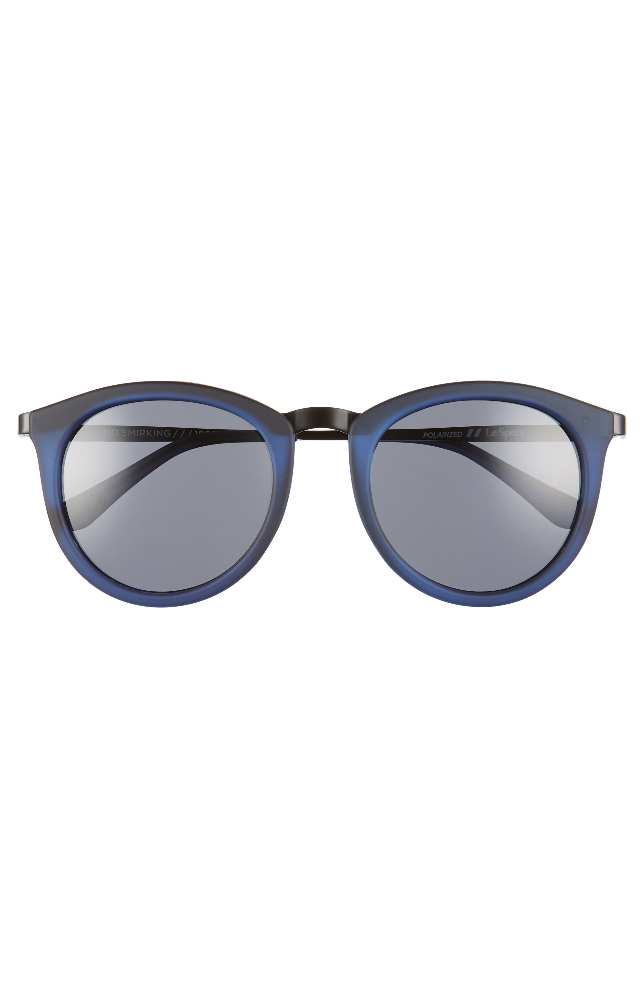 No Smirking 50mm Polarized Sunglasses,                             Alternate thumbnail 3, color,                             Navy Rubber