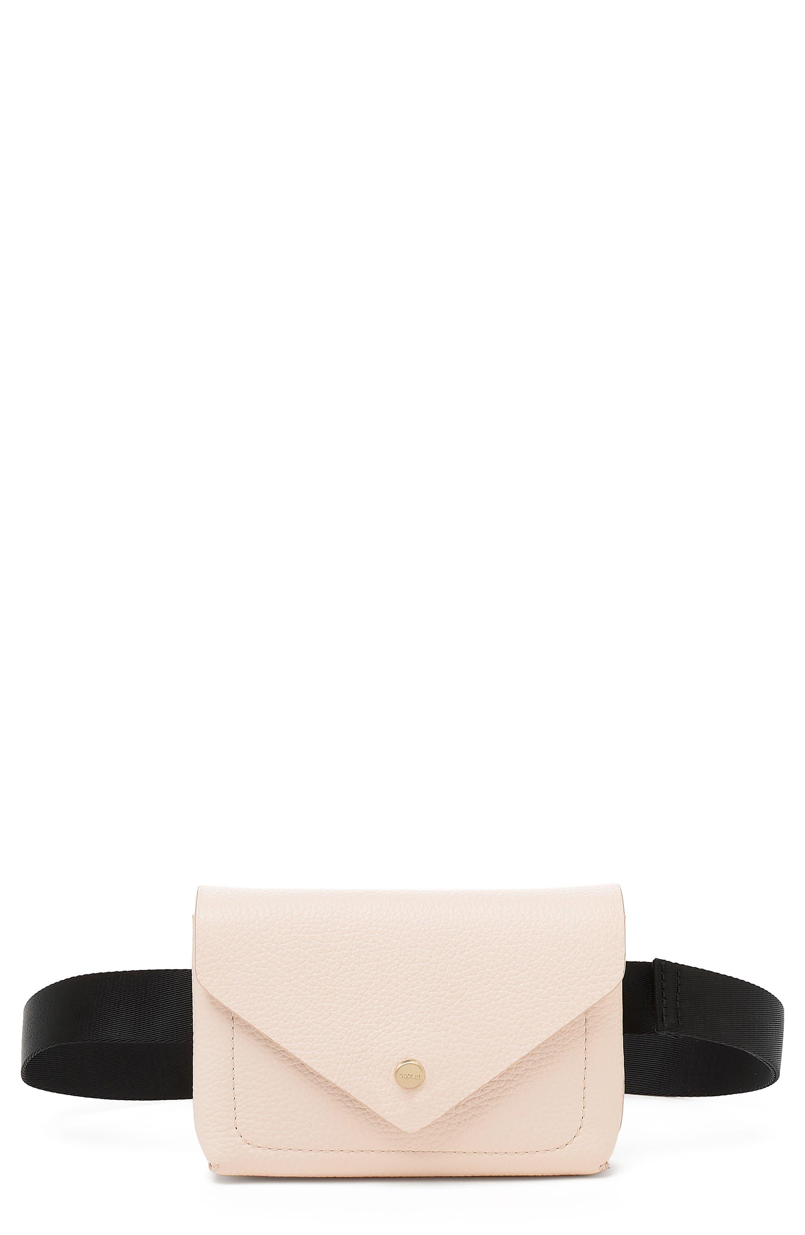 Vivi Calfskin Leather Convertible Belt Bag,                             Main thumbnail 1, color,                             Blossom