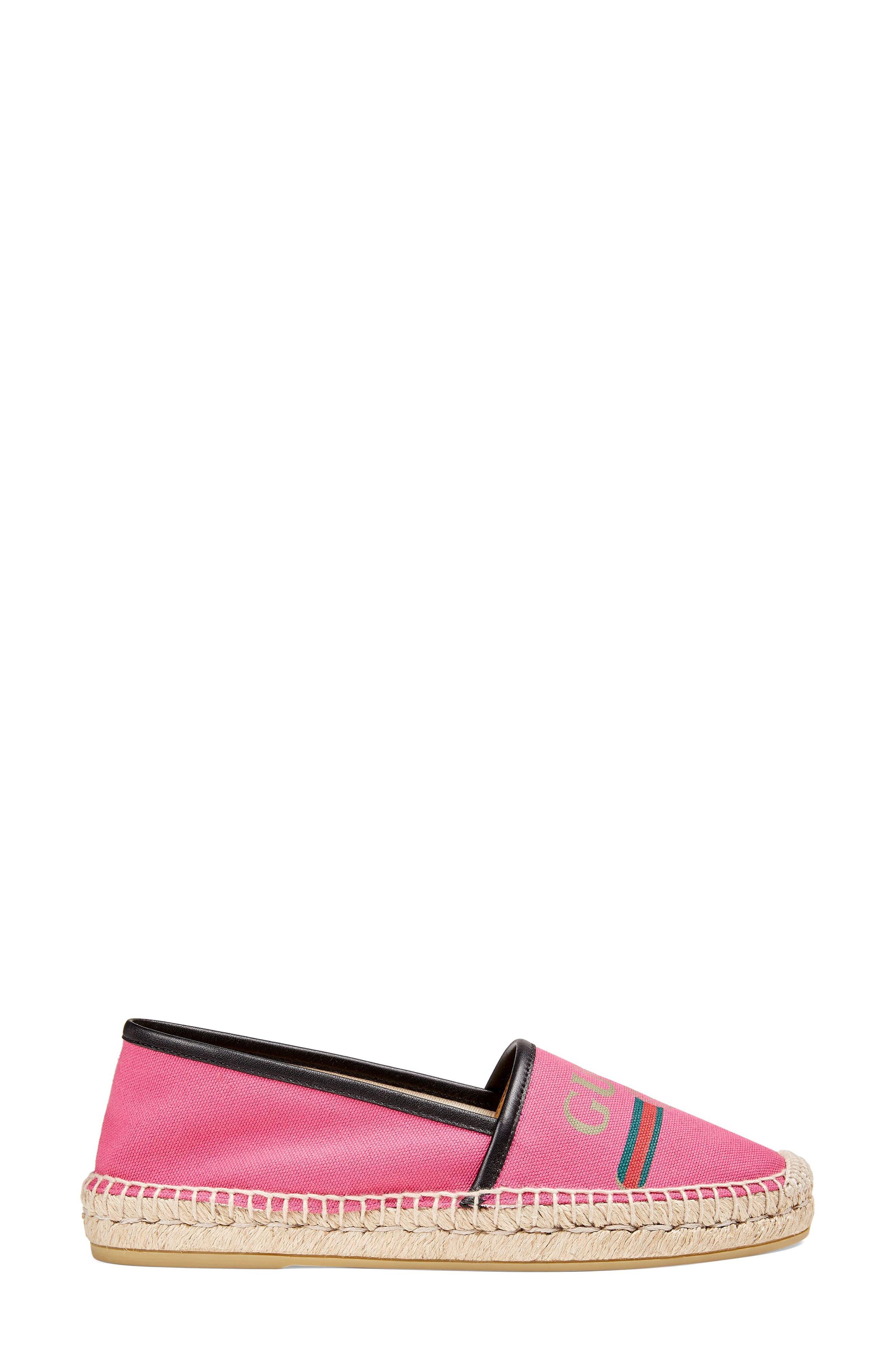 Logo Espadrille Flat,                             Alternate thumbnail 2, color,                             Pink