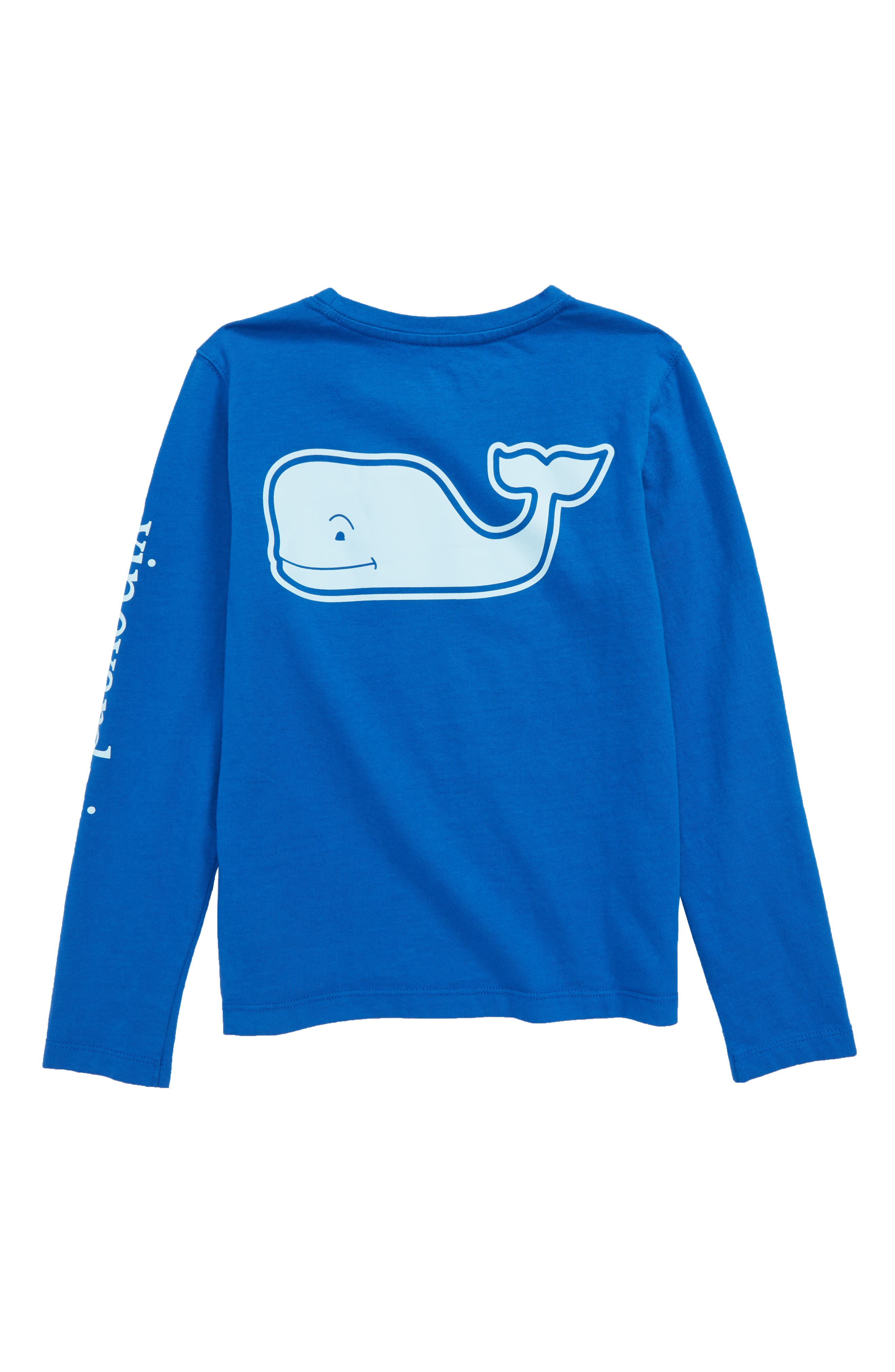 Whale Pocket Long Sleeve Tee,                             Alternate thumbnail 2, color,                             Yacht Blue