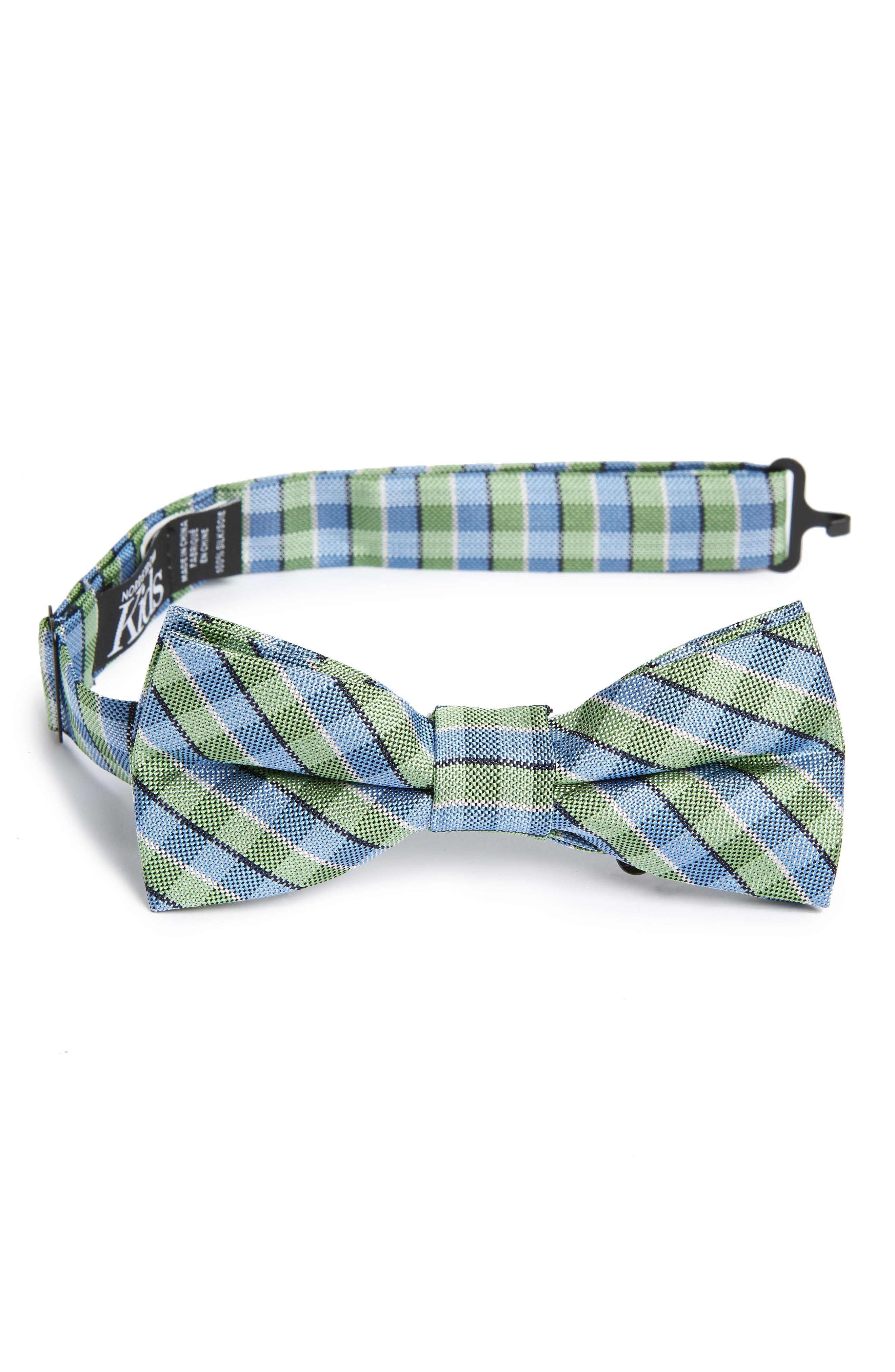 Circus Check Silk Bow Tie,                         Main,                         color, 300