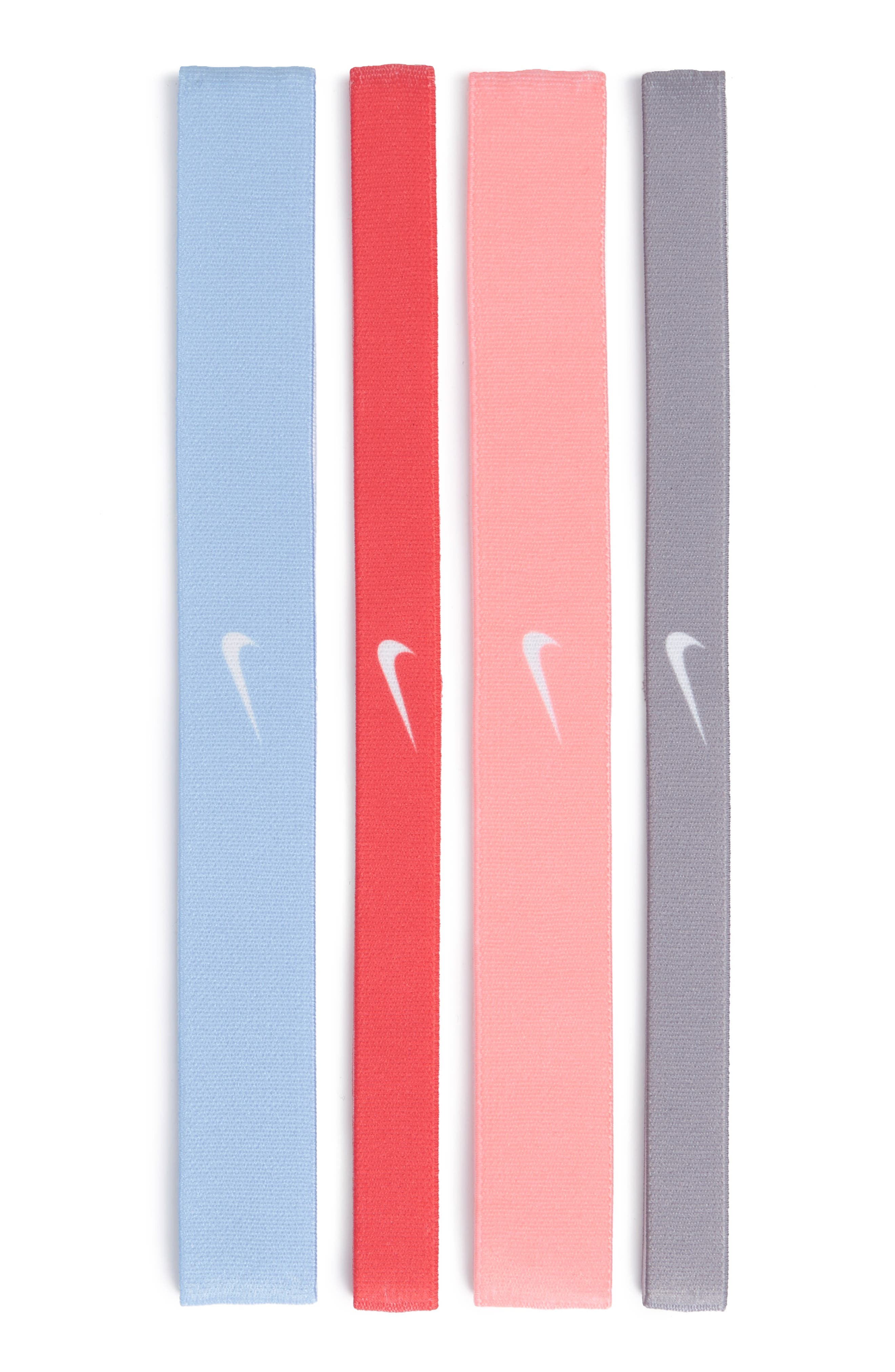 4-Pack Headbands,                             Main thumbnail 1, color,                             Grey/ Pink/ Coral