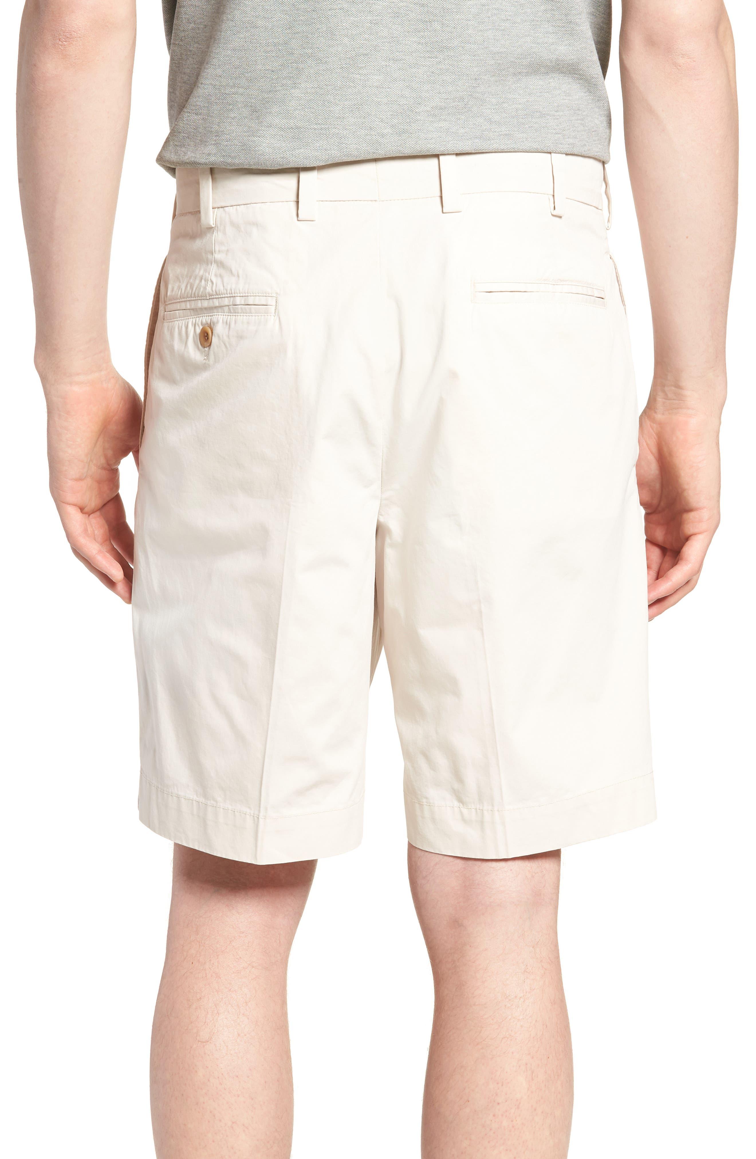 M2 Classic Fit Pleated Tropical Cotton Poplin Shorts,                             Alternate thumbnail 2, color,                             Sand