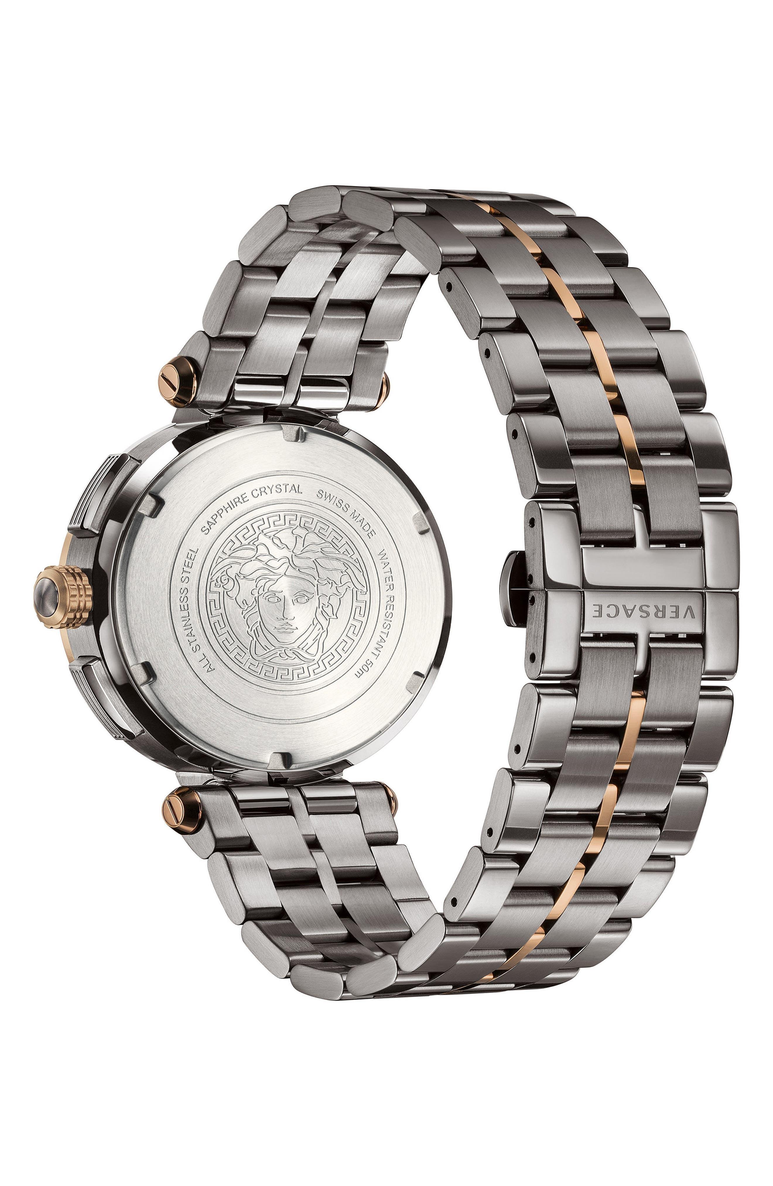 Alternate Image 3  - Versace Aion Chronograph Bracelet Watch, 45mm