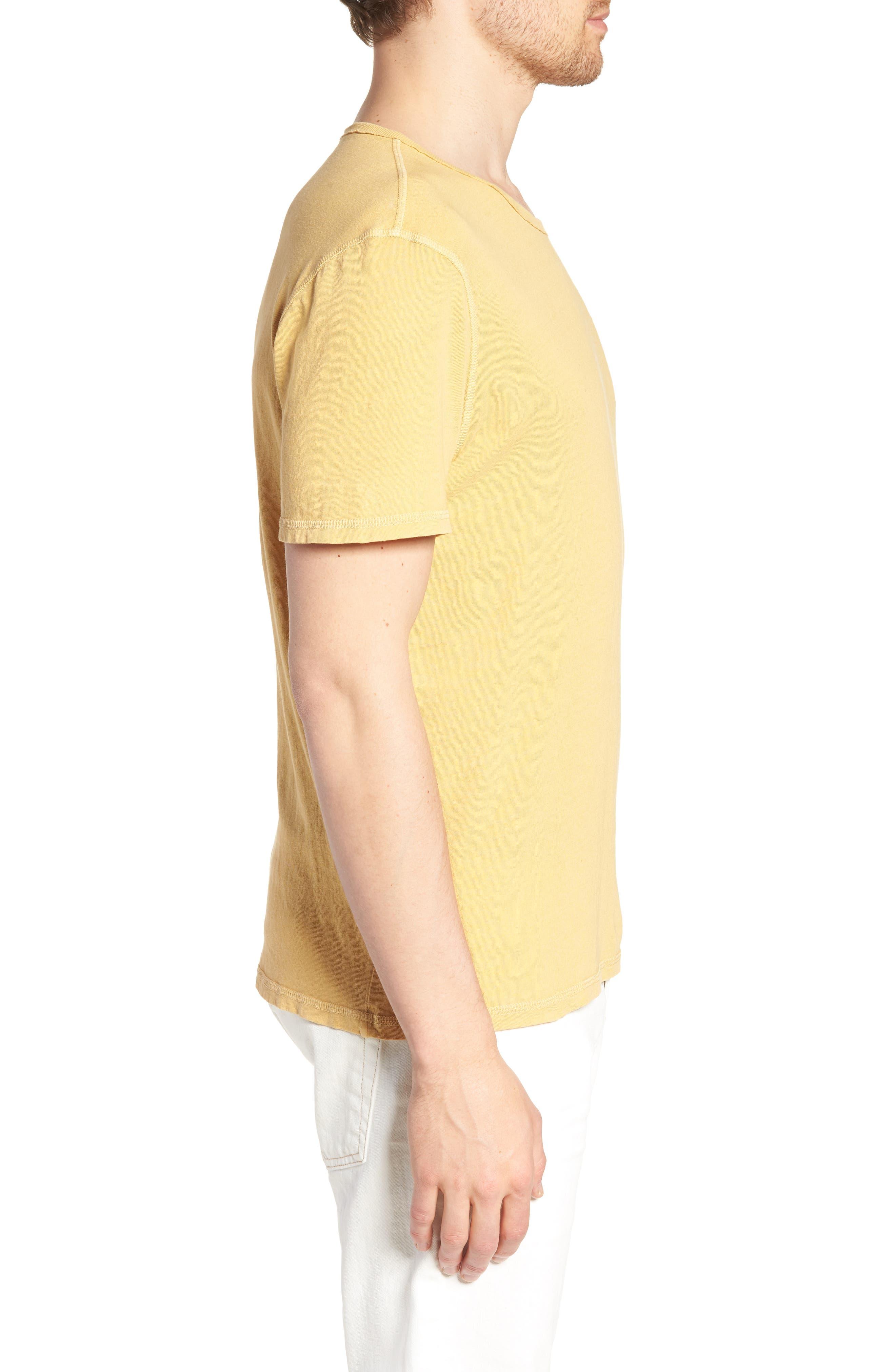 Ramsey Slim Fit Crewneck T-Shirt,                             Alternate thumbnail 3, color,                             Weathered Golden Emmer