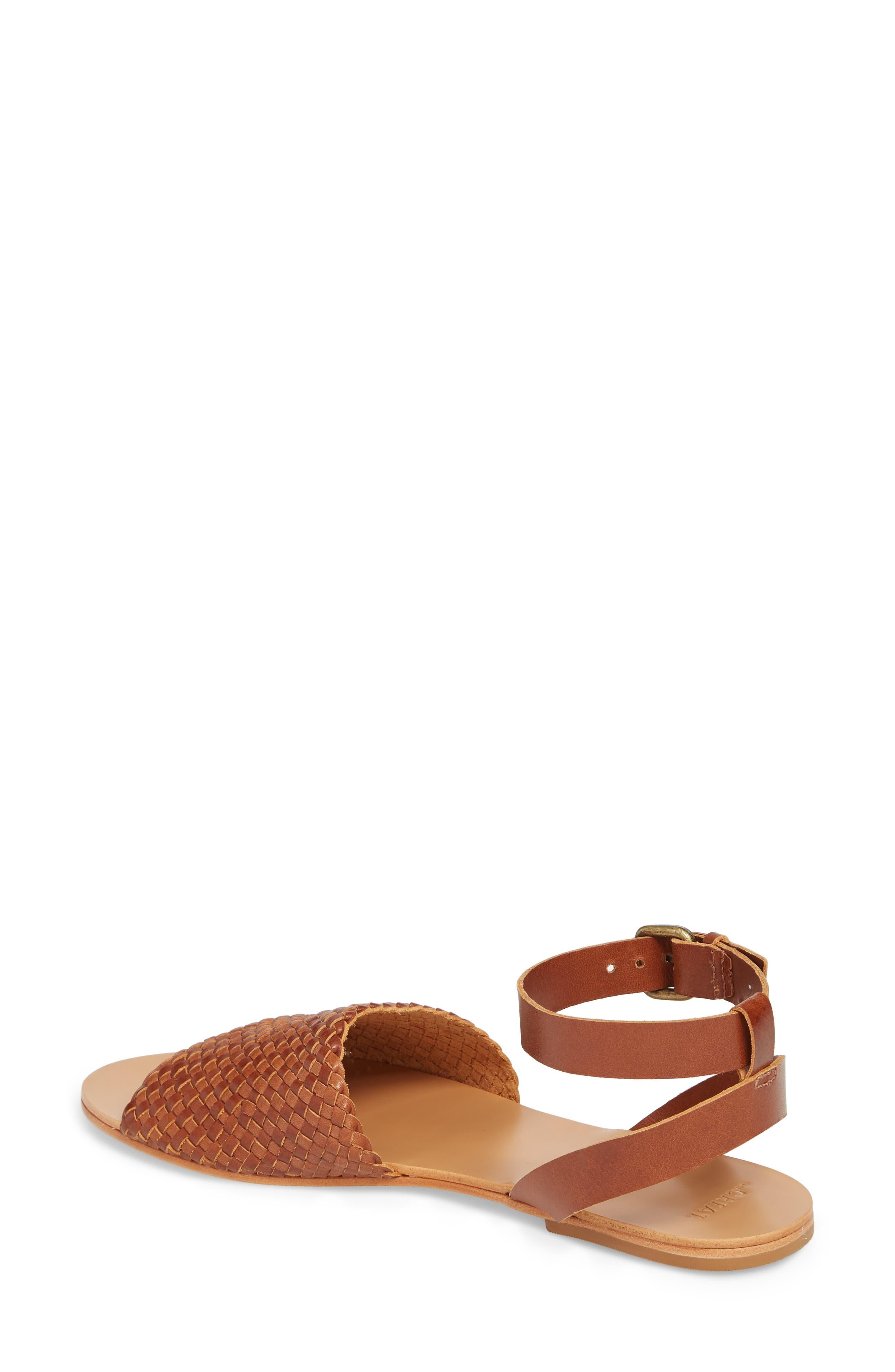 The Great Caravan Ankle Strap Sandal,                             Alternate thumbnail 2, color,                             Cognac
