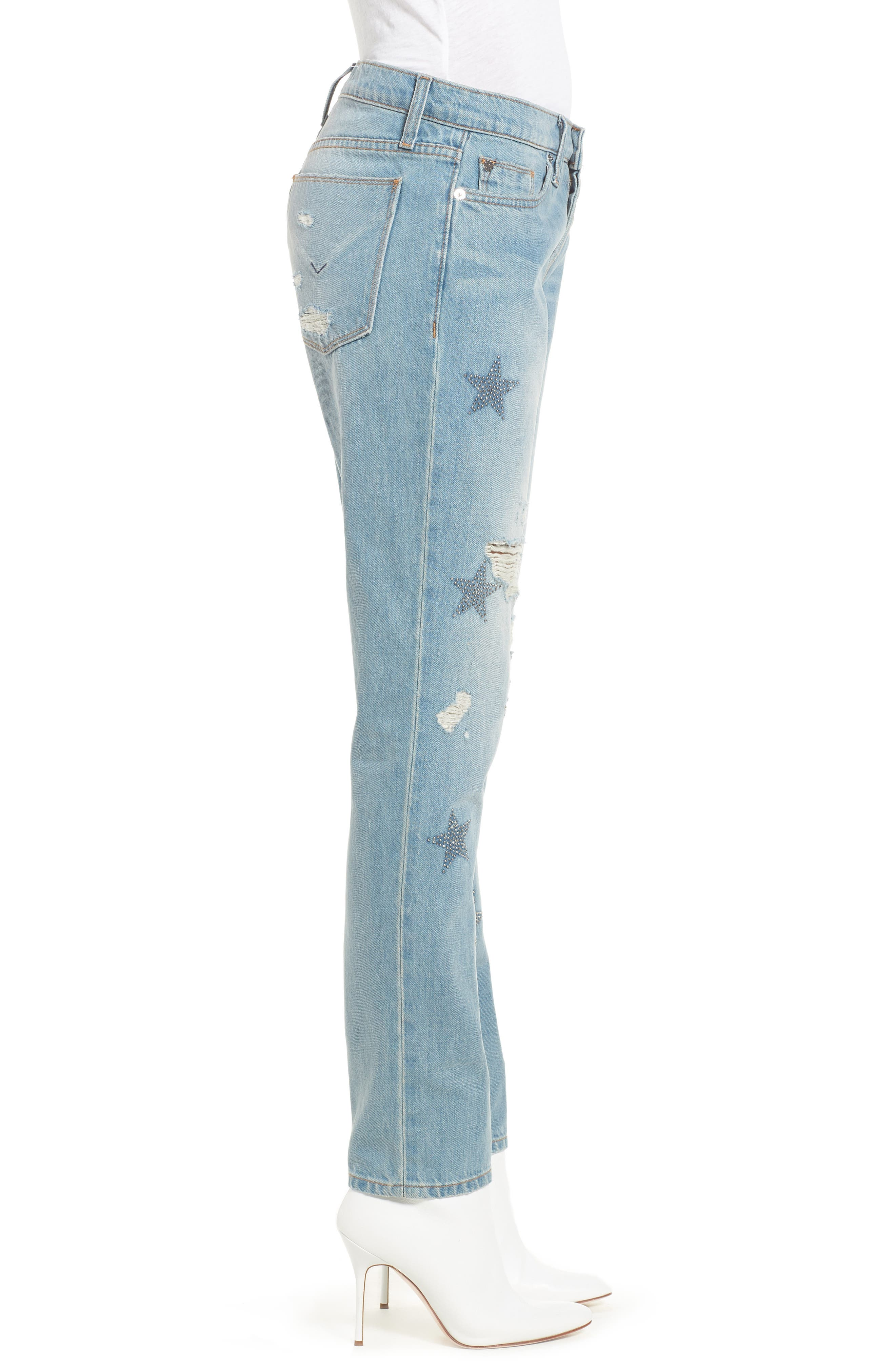 Riley Crop Relaxed Straight Leg Jeans,                             Alternate thumbnail 3, color,                             Amplify