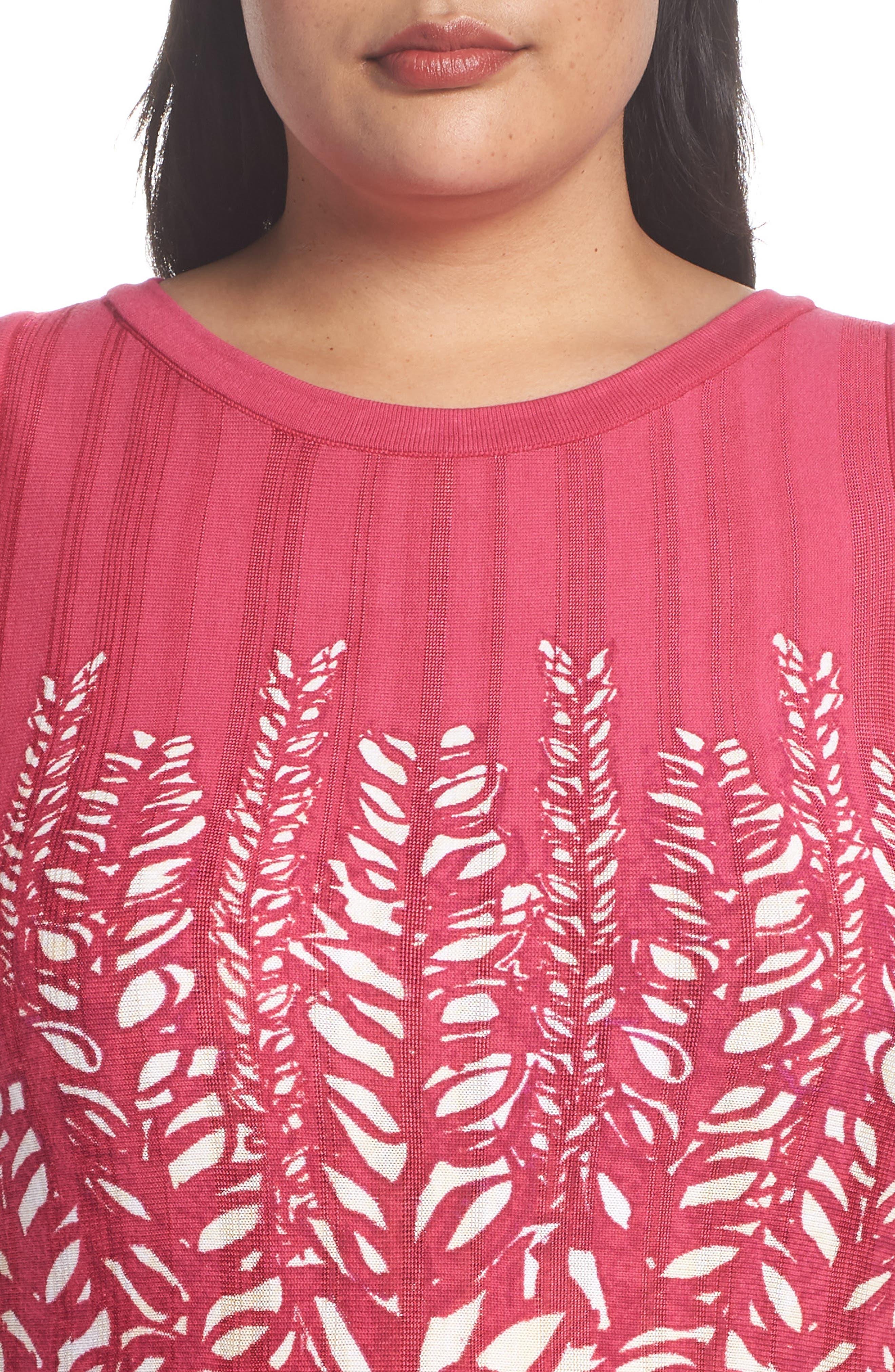 Tango Twirl Fit & Flare Knit Dress,                             Alternate thumbnail 4, color,                             Multi