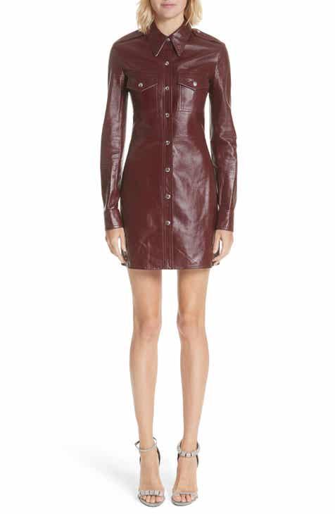 leather dress nordstrom