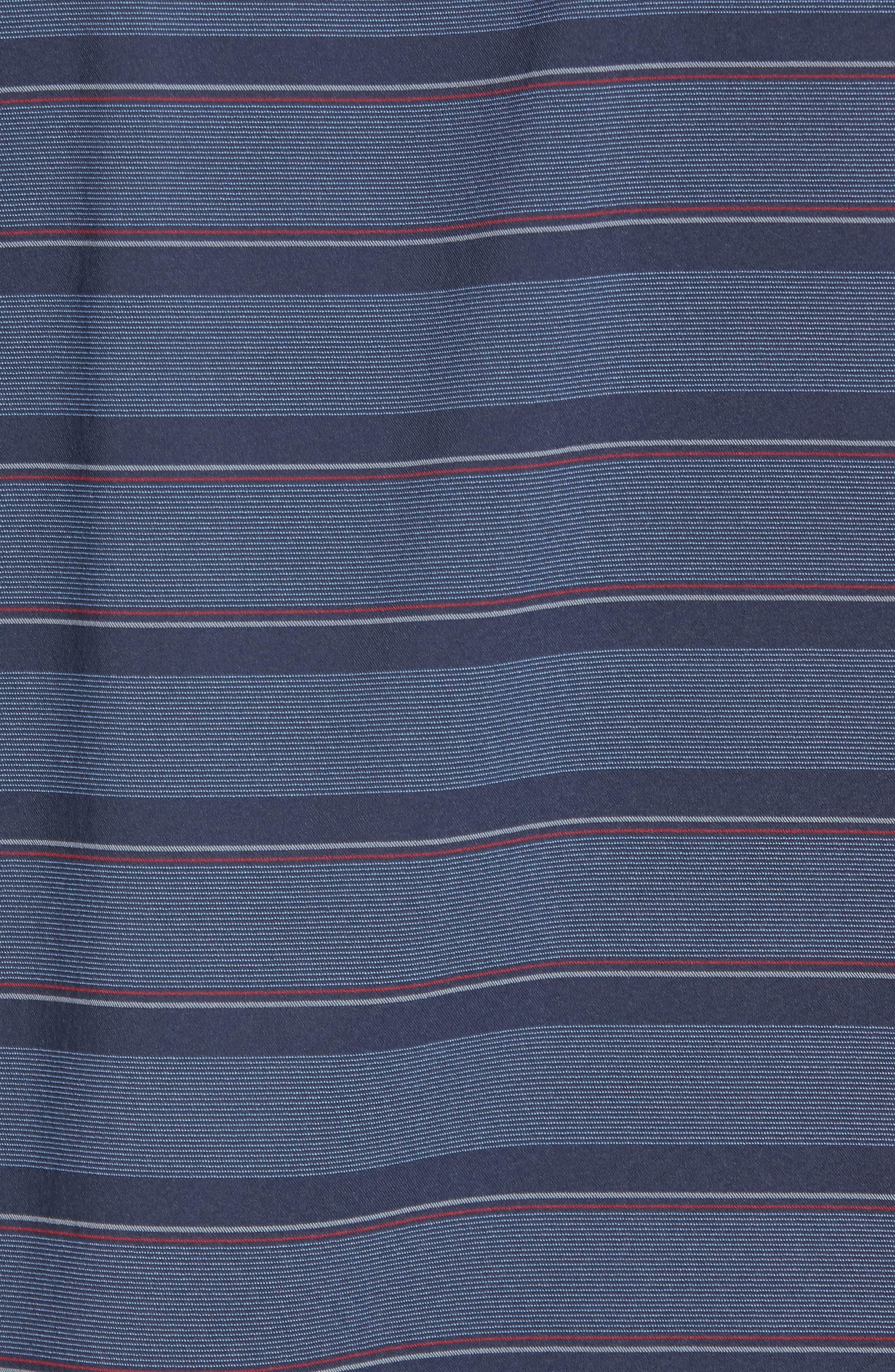 Quiver Regular Fit Sport Shirt,                             Alternate thumbnail 5, color,                             Blue Nights